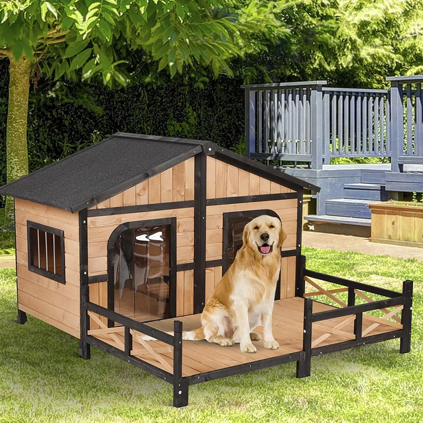 Dog House Campa Solid Wood Dog House