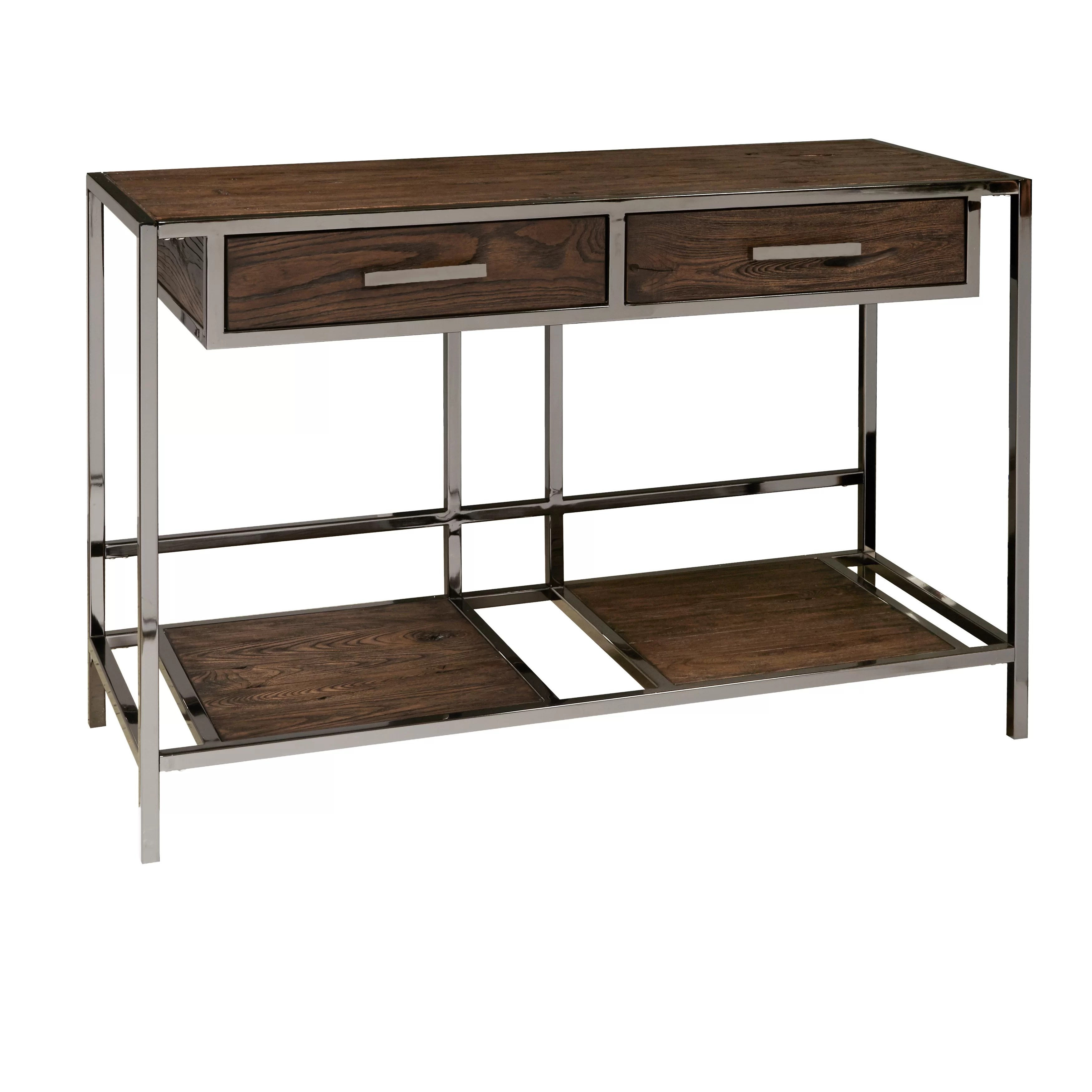 Sofa Modern Falkner Modern Industrial Style Wood And Smoked Sofa Console Table