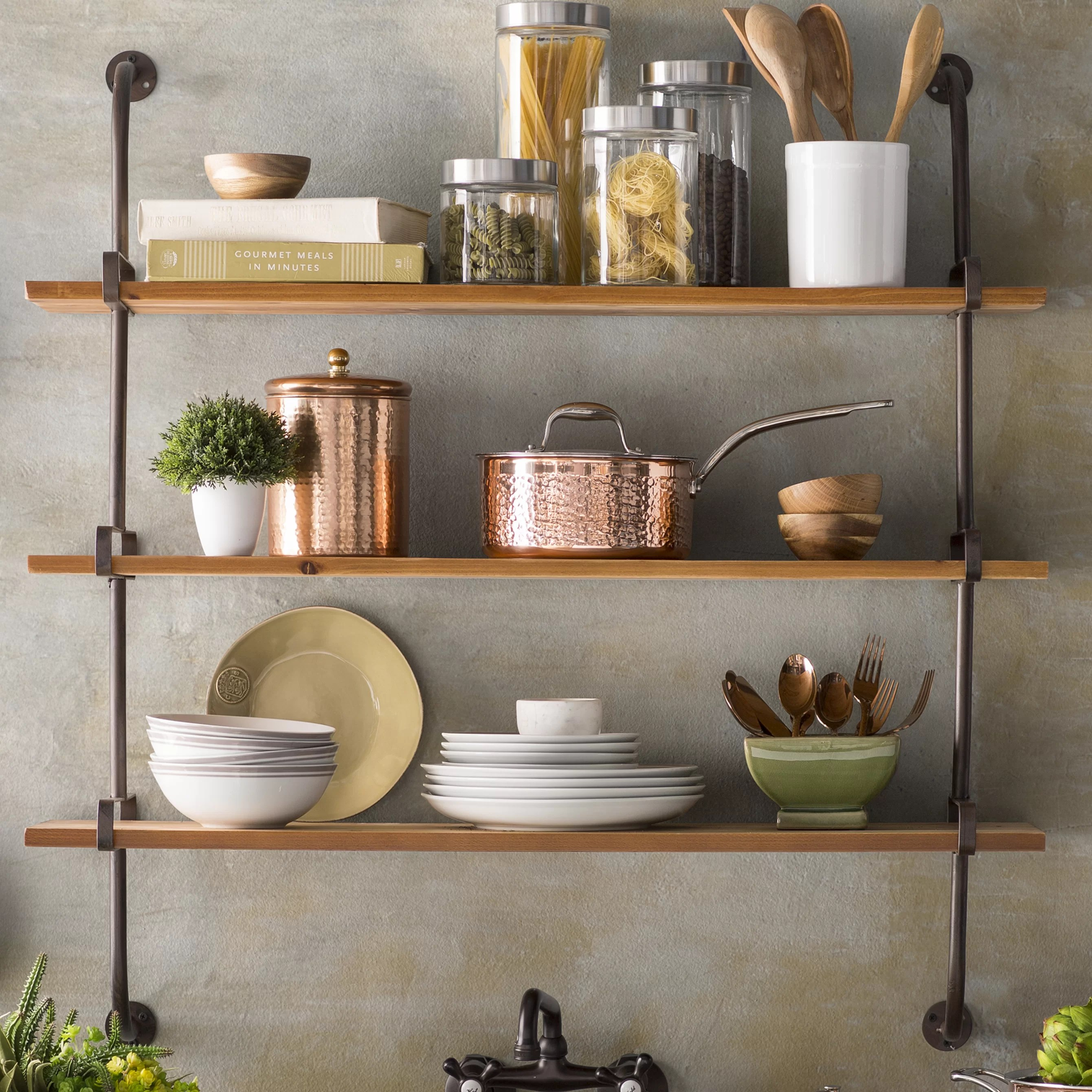 Wall Shelf Design Fountain Valley Wood Wall Shelf
