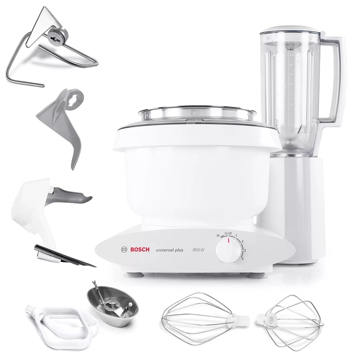 Bosch Blender Universal Plus 4 Speed 6 5 Qt 800 Watt Stand Mixer With Cookie Paddles Blender Bowl Scraper