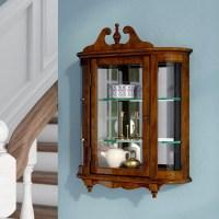 Astoria Grand Bedingfield Wall-Mounted Curio Cabinet ...