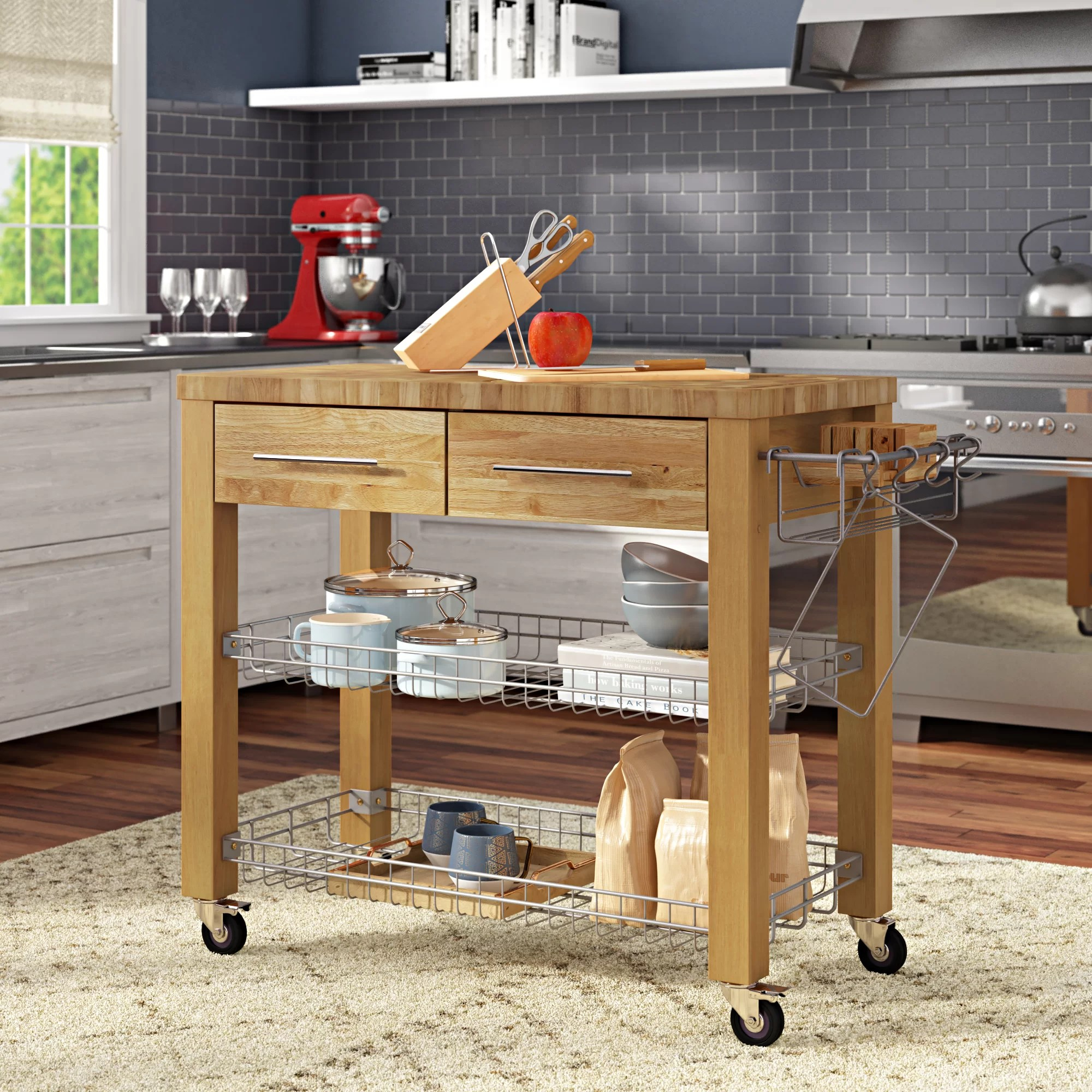 Furniture Storage Sydney Sydney Kitchen Cart With Butcher Block Top