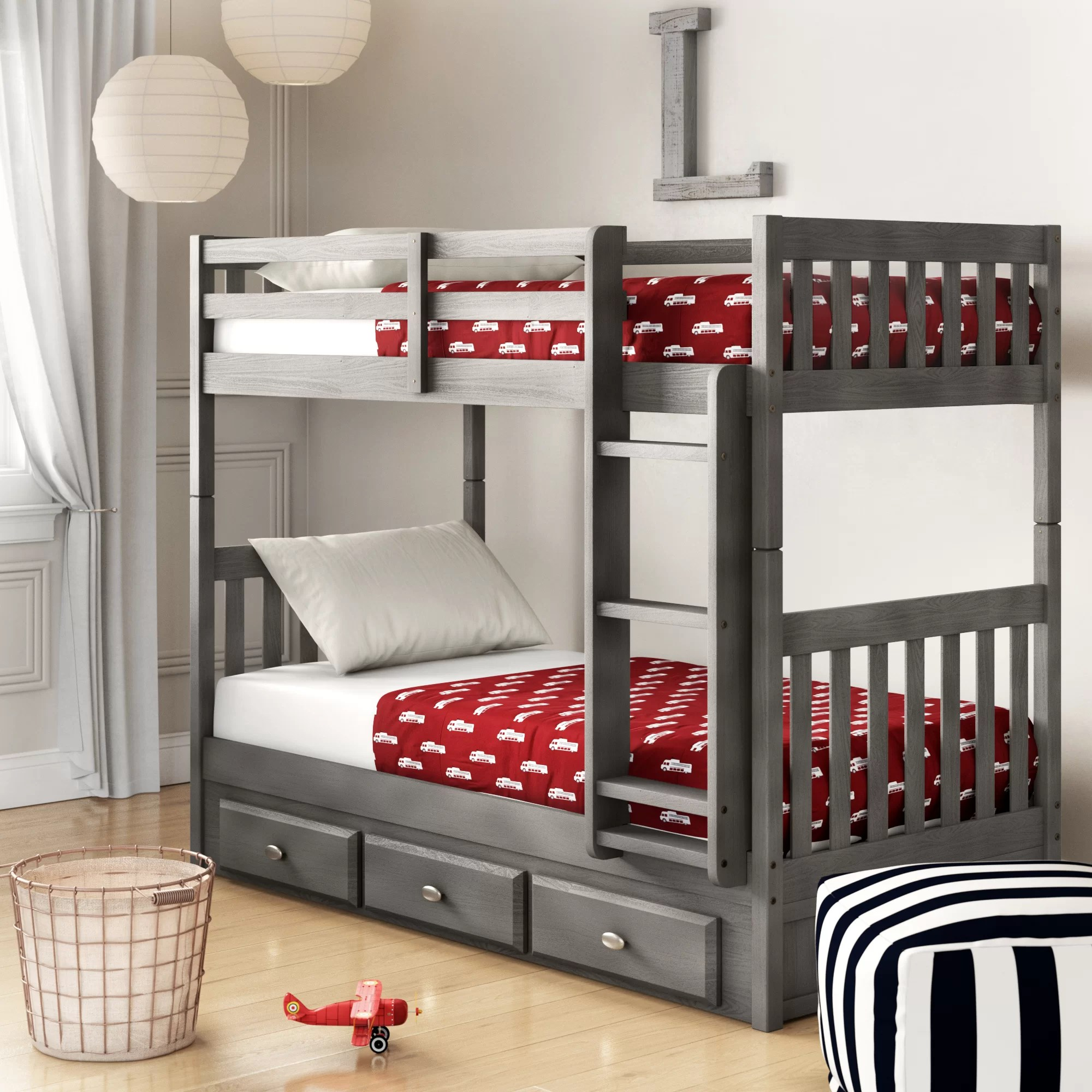 Snooze Bunk Beds Williamson Twin Over Twin Bunk Bed With Drawers