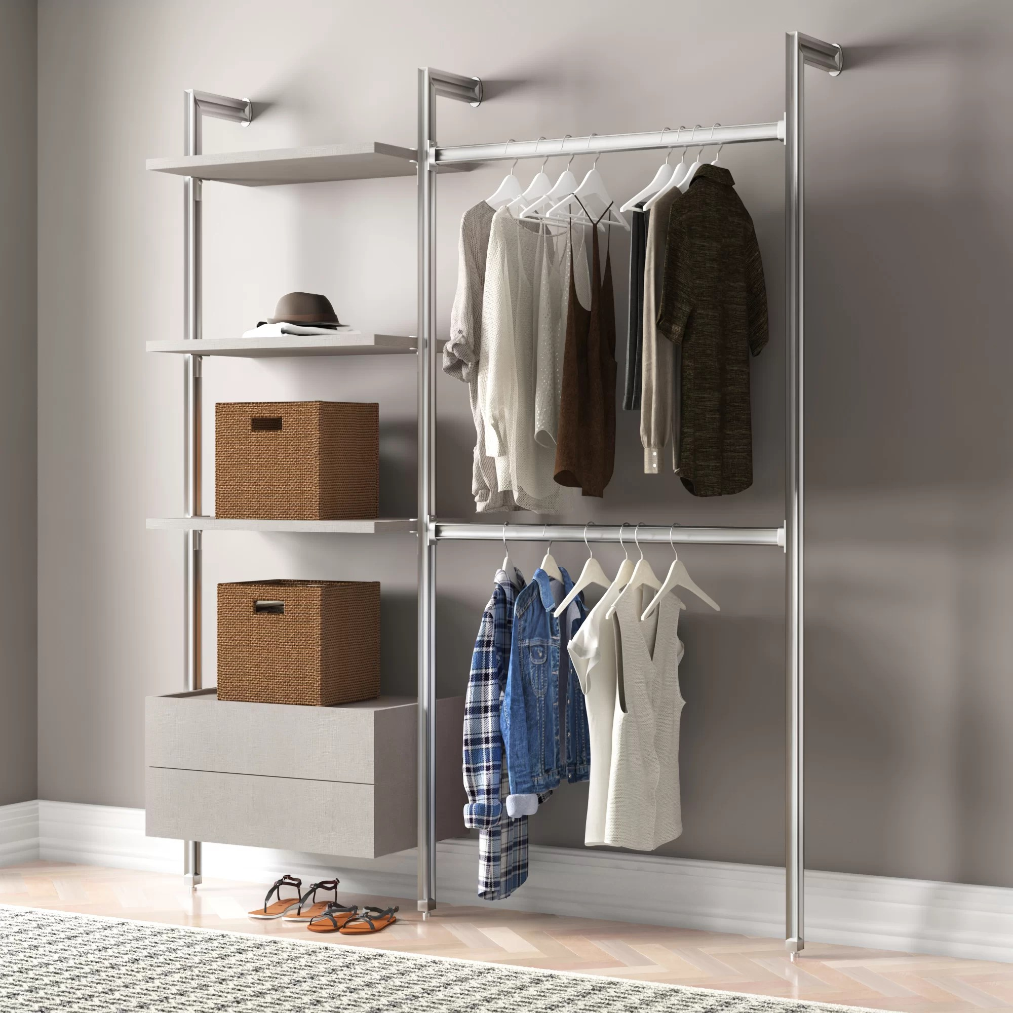 Clothes Storage Relax 189cm Wide Clothes Storage System
