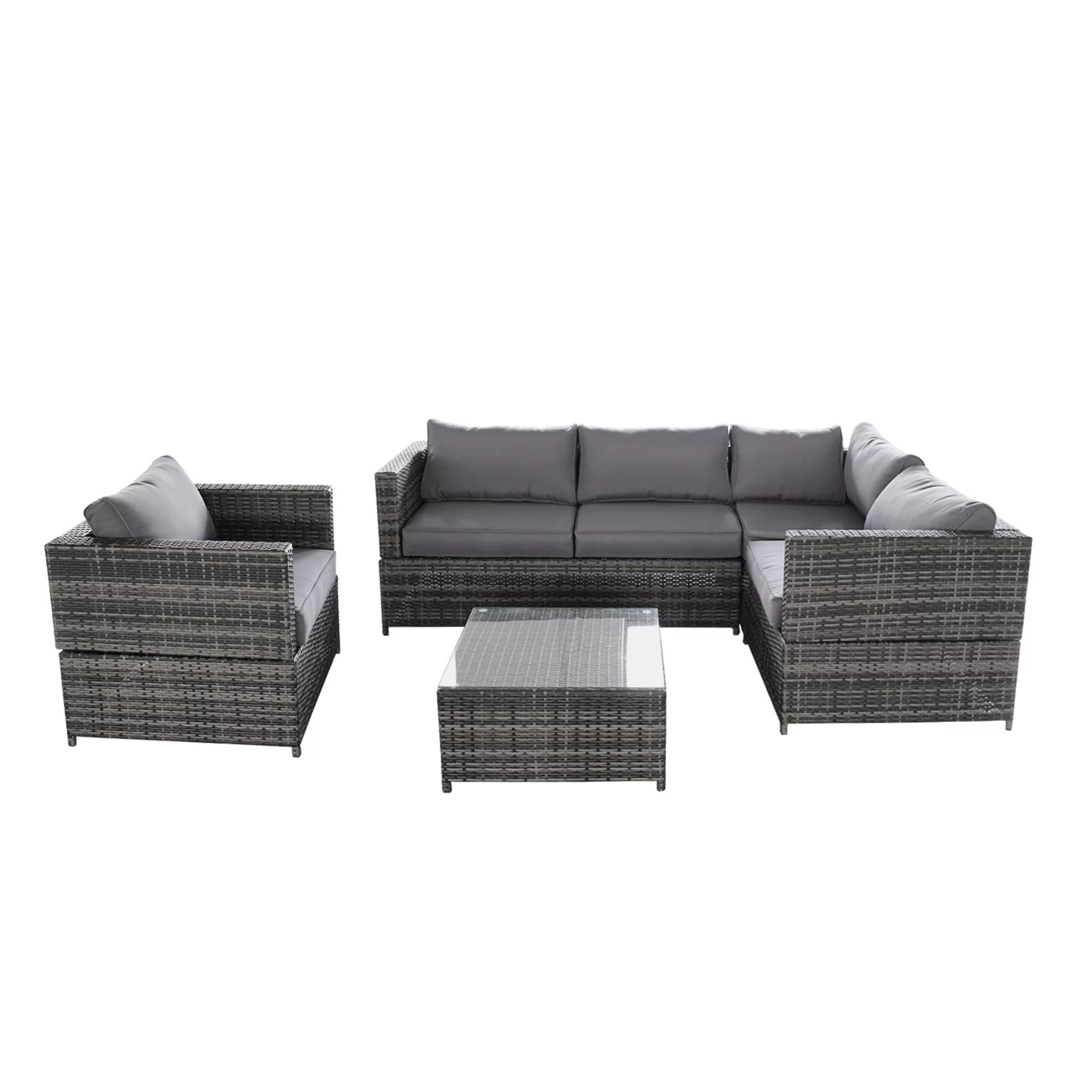 Baptist 6 Piece Rattan Sofa Set With Cushions Zipcode Design Success 4 Piece Sectional Set With Cushions