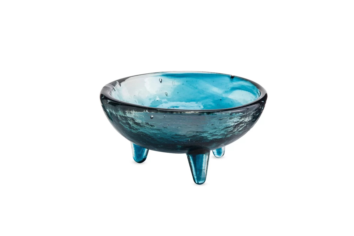 Decorative Glass Bowls Teton Molcajete Recycled Glass Decorative Bowl