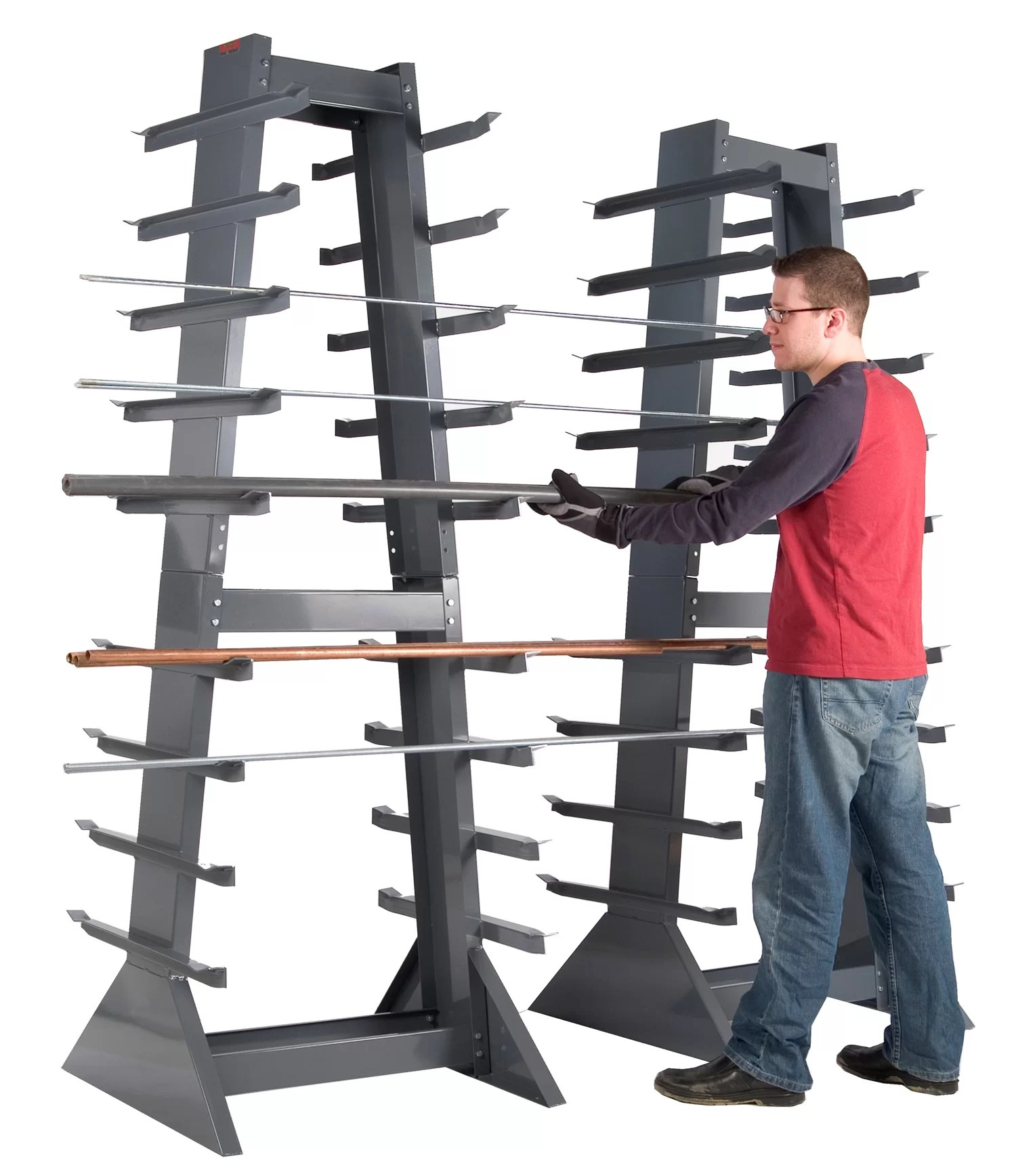 Storage Racks Heavy Duty 14 Gauge Steel Horizontal Storage Rack