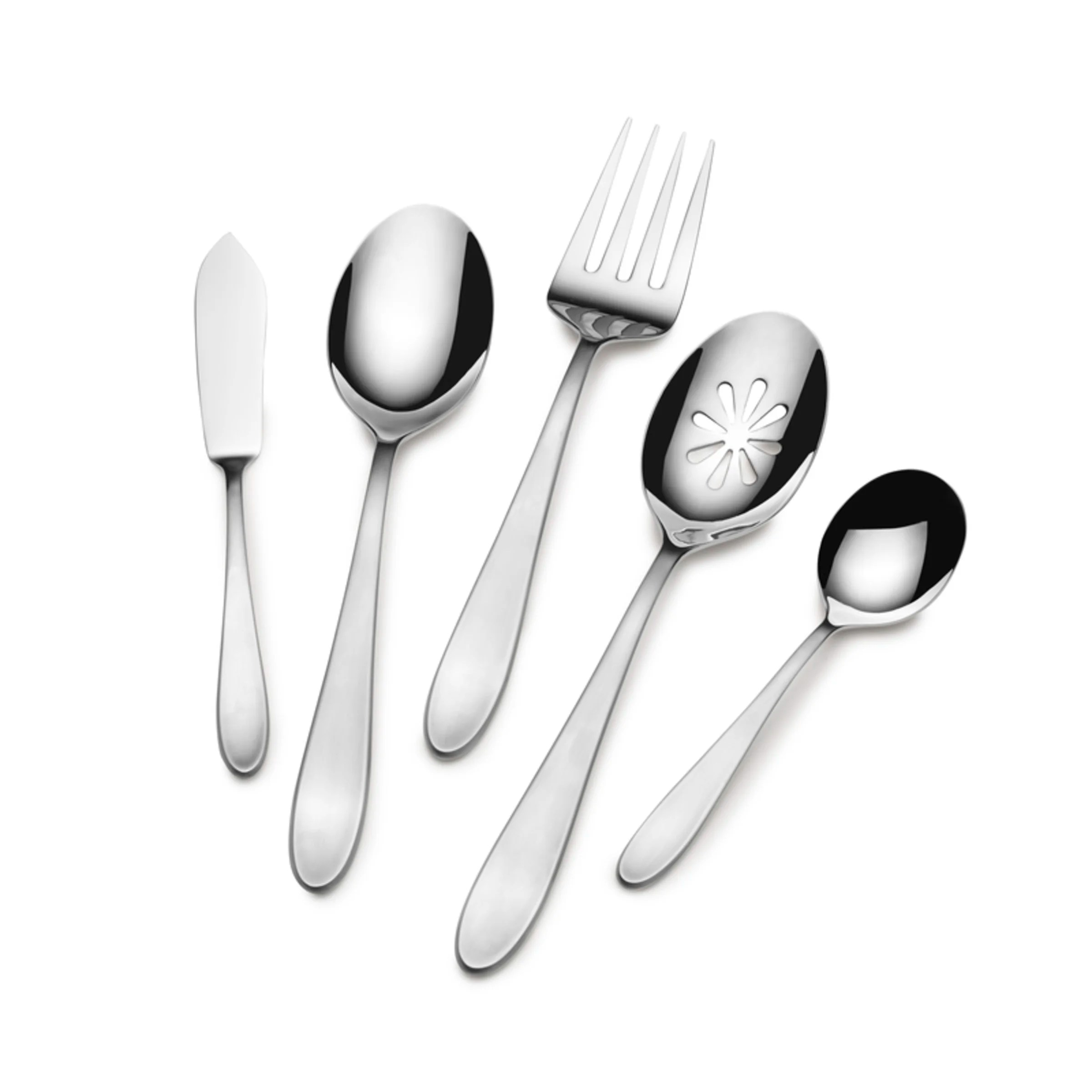 Discount Stainless Flatware Prescott Satin 22 Piece 18 10 Stainless Steel Flatware Set