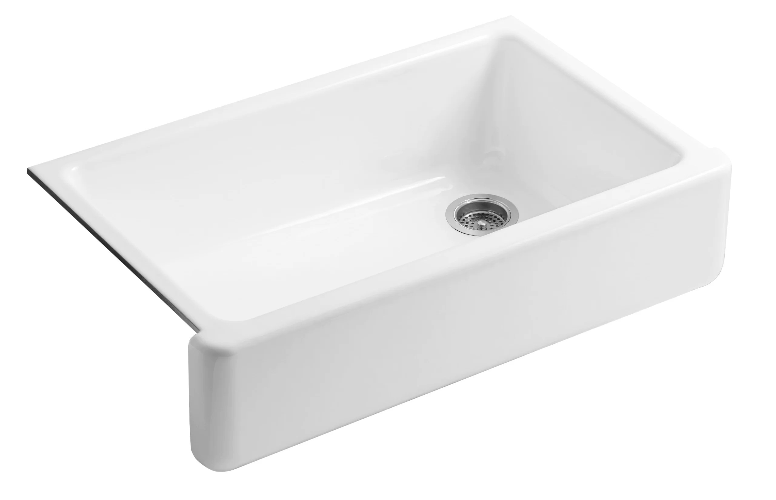 Kohler Whitehaven Farmhouse Sink Accessories Kohler Whitehaven Self Trimming 35 69 Quot X 21 56 Quot Farmhouse