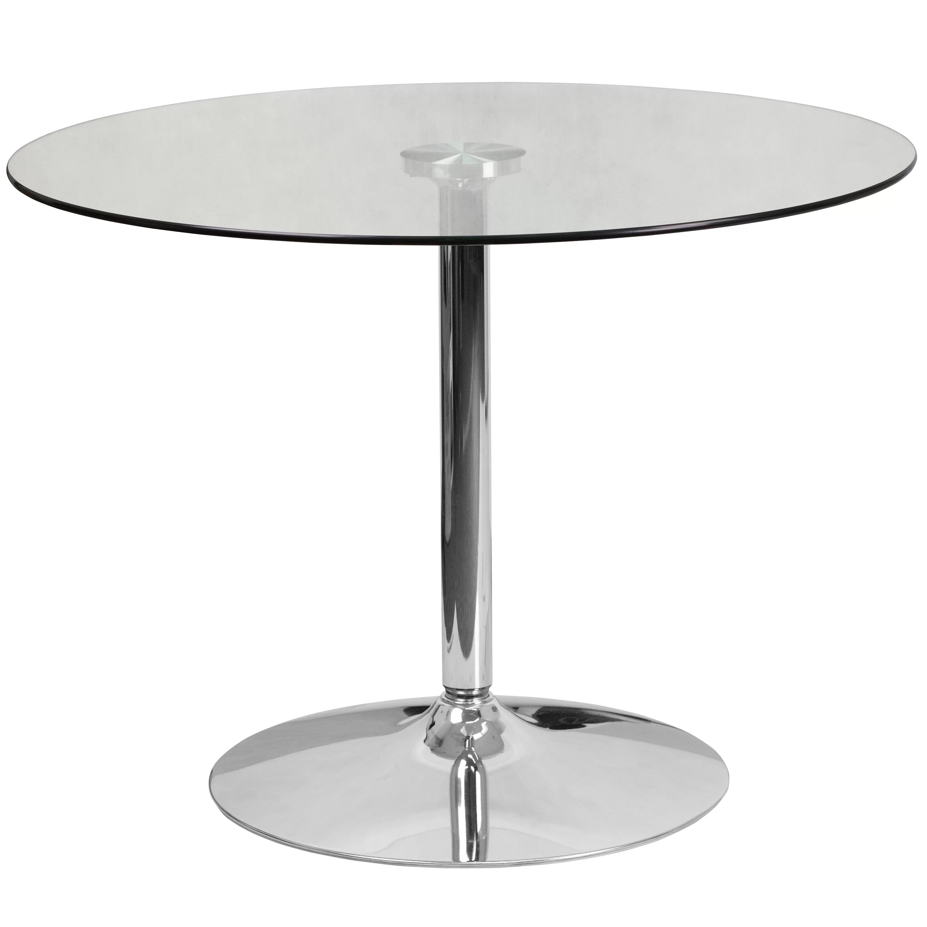 Modern Round Glass Dining Table Cavell Round Glass Dining Table