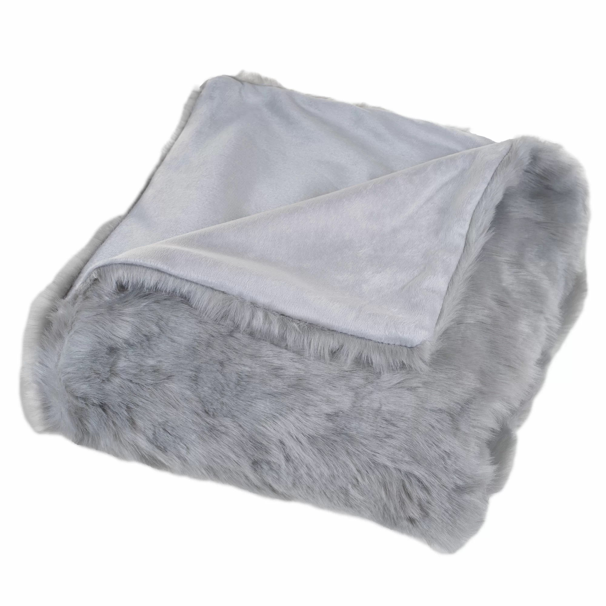 Throw Blankets Hanah Faux Fur Throw Blanket
