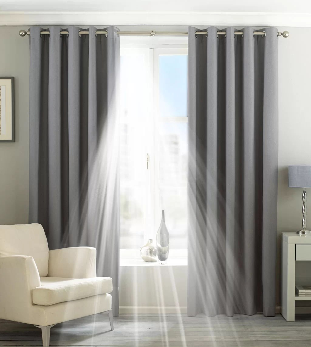 Grey Thermal Curtains Eclipse Eyelet Blackout Thermal Curtains