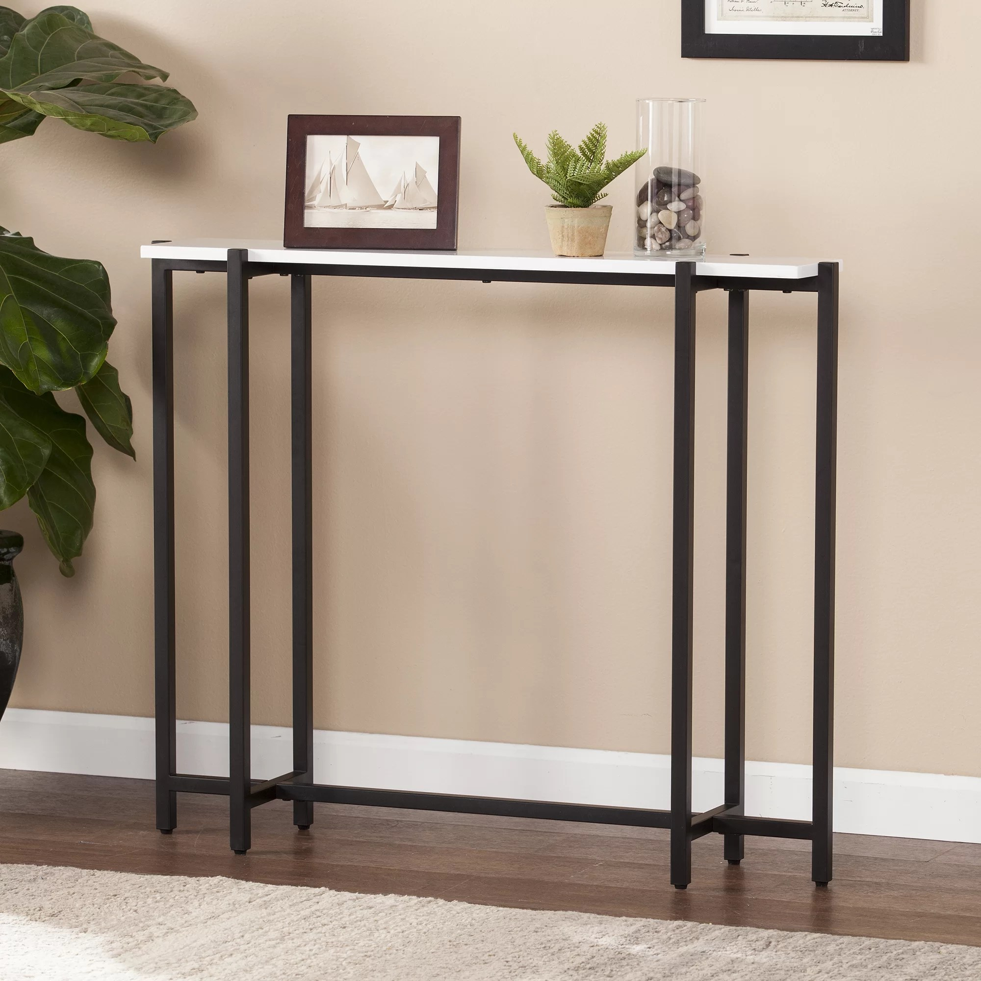 Narrow Entry Table Jeske Contemporary Narrow Console Table