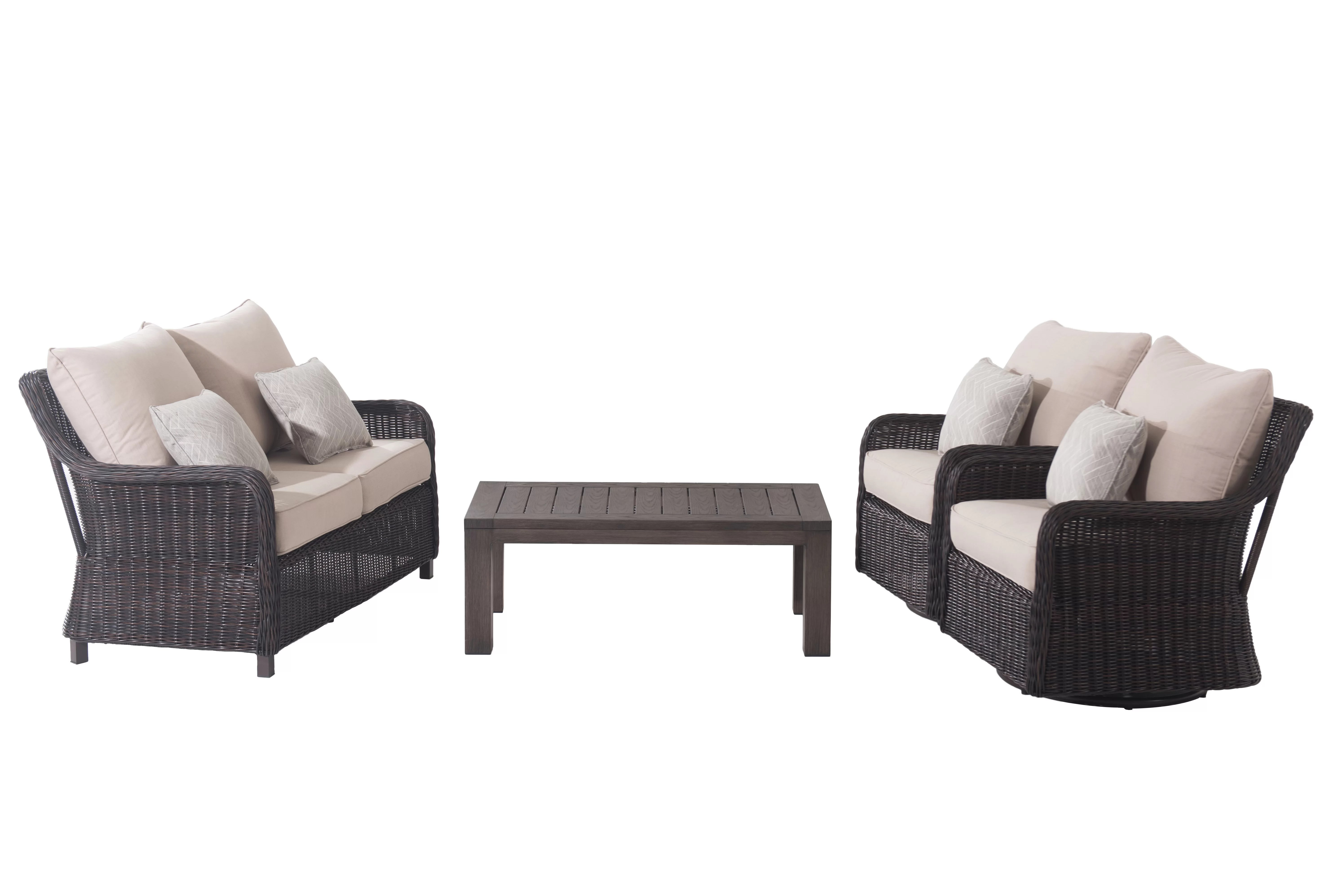 Baptist 6 Piece Rattan Sofa Set With Cushions Macri 4 Piece Sofa Seating Group With Cushions