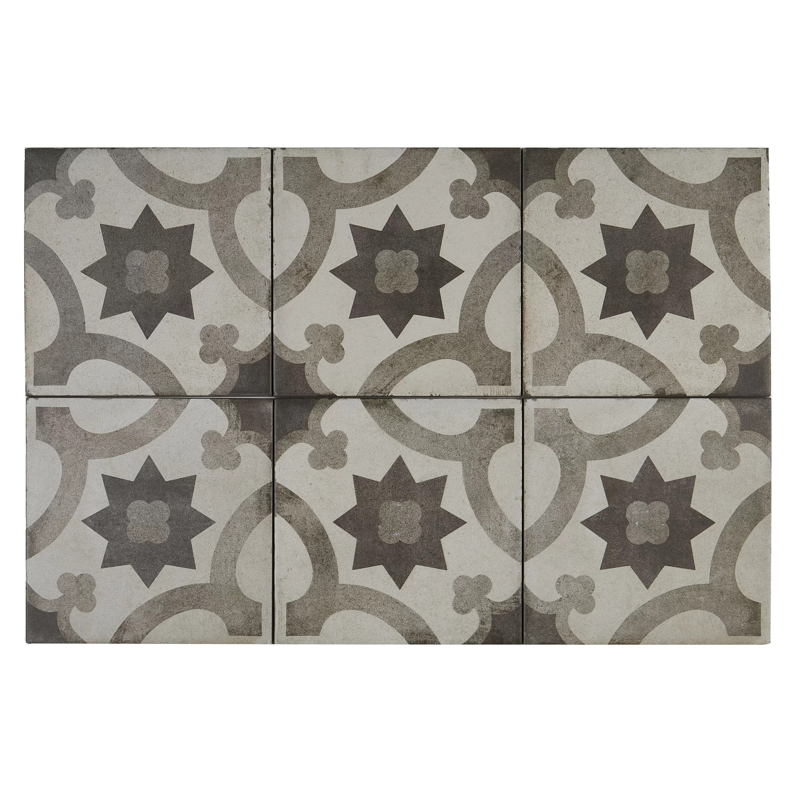 Mix And Match Deco Encausto Hand Made Encaustic Look 8x8 Cool Blend Deco Tile