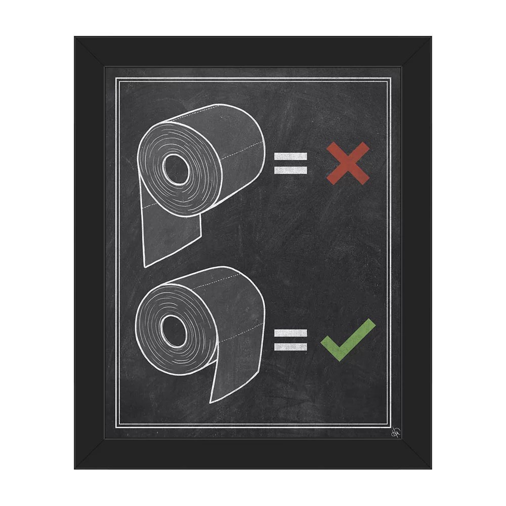Toilet Wall Art How To Toilet Paper Chalkboard Framed Graphic Art