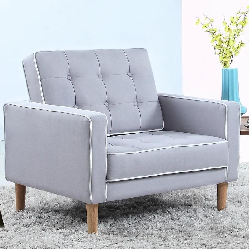 Madison Home USA Mid Century Modern Fabric Living Room Armchair - living room armchair