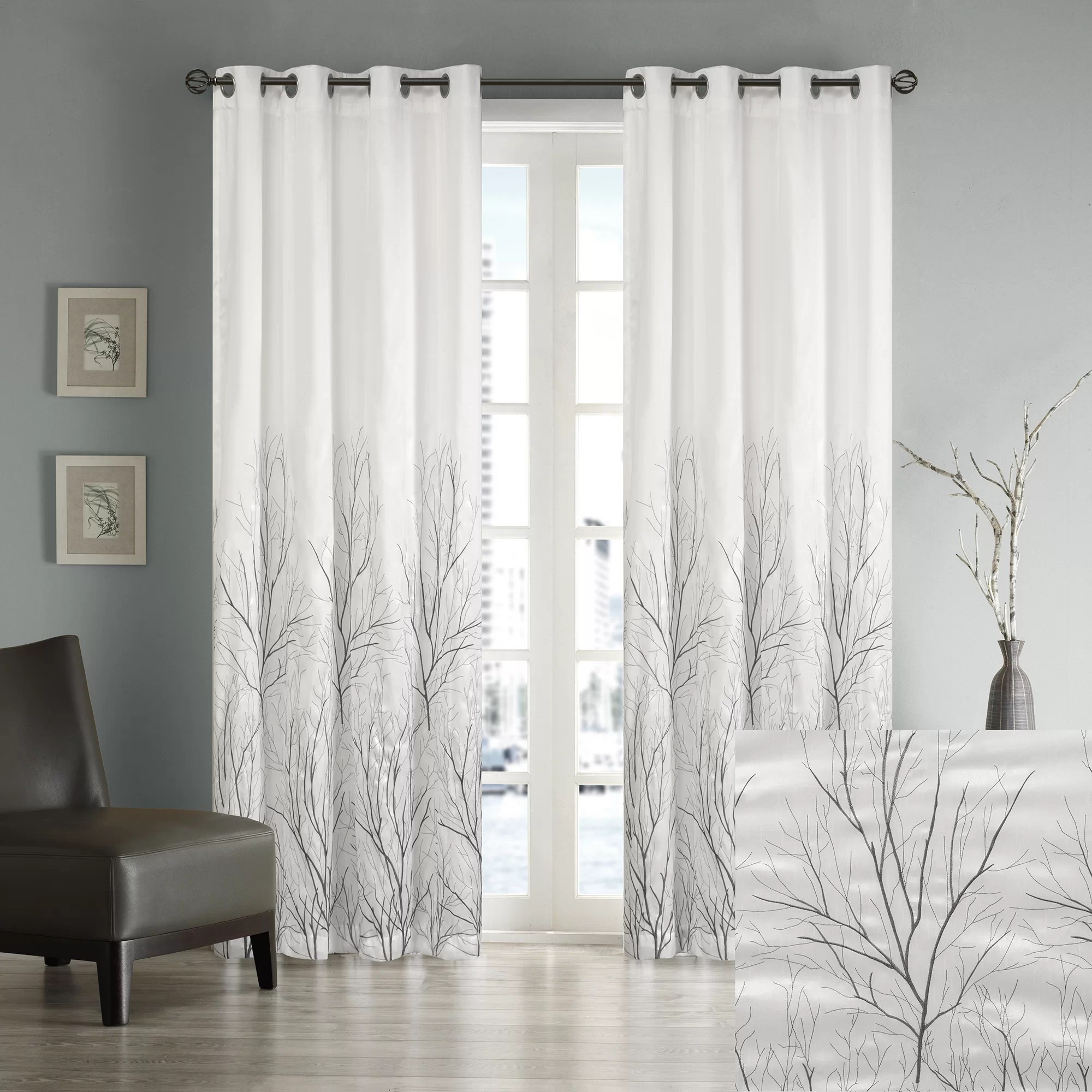 Vorhänge Industrial Andora Eyelet Room Darkening Curtains