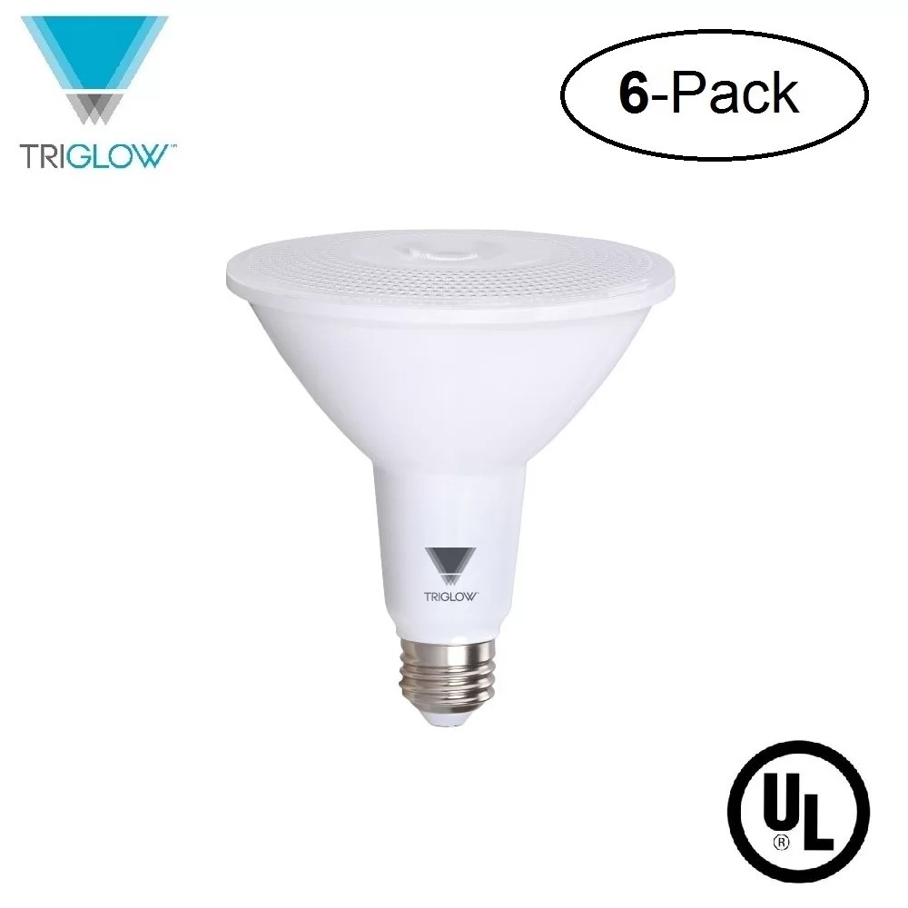 Ampoule E27 Led 100w Triglow T97019 6 6 Pack 15 Watt 100w Equivalent Par38 Led Bulb