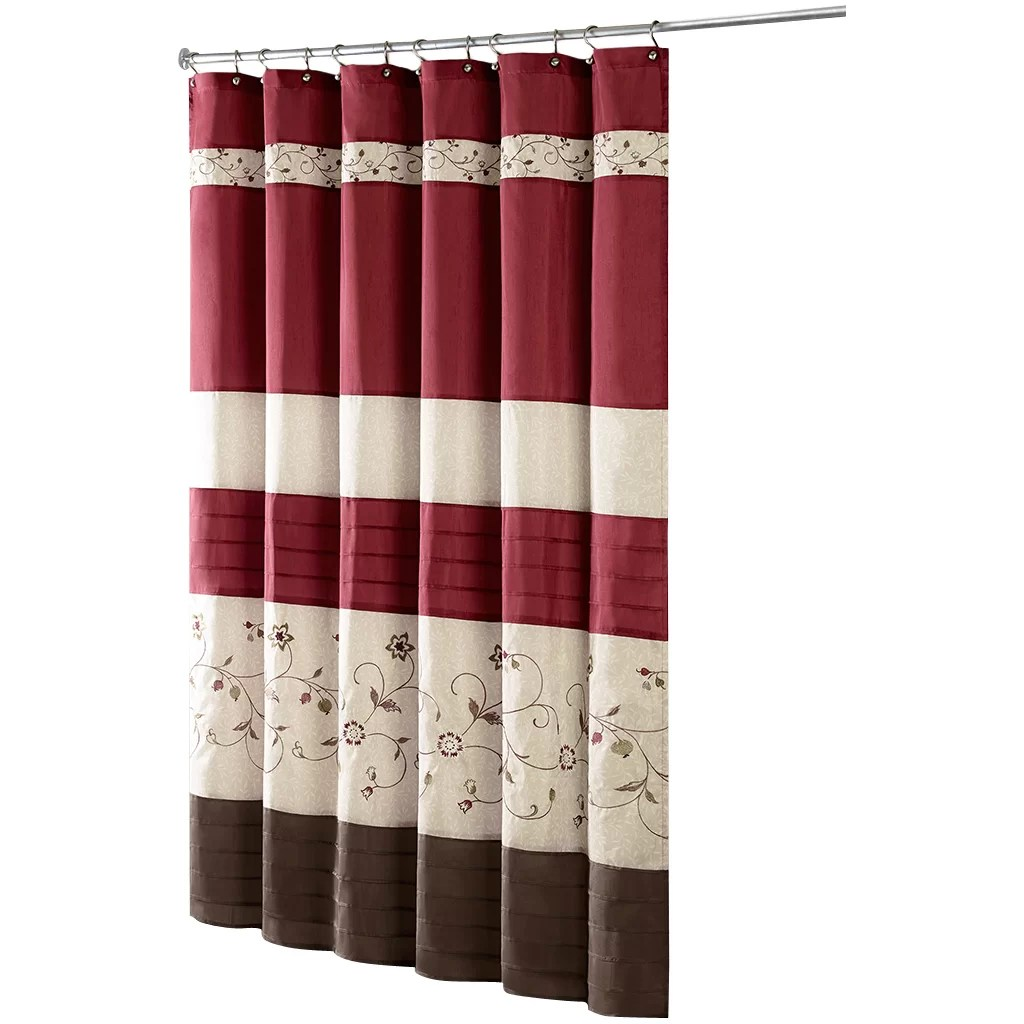 Red And Brown Shower Curtain Willshire Shower Curtain