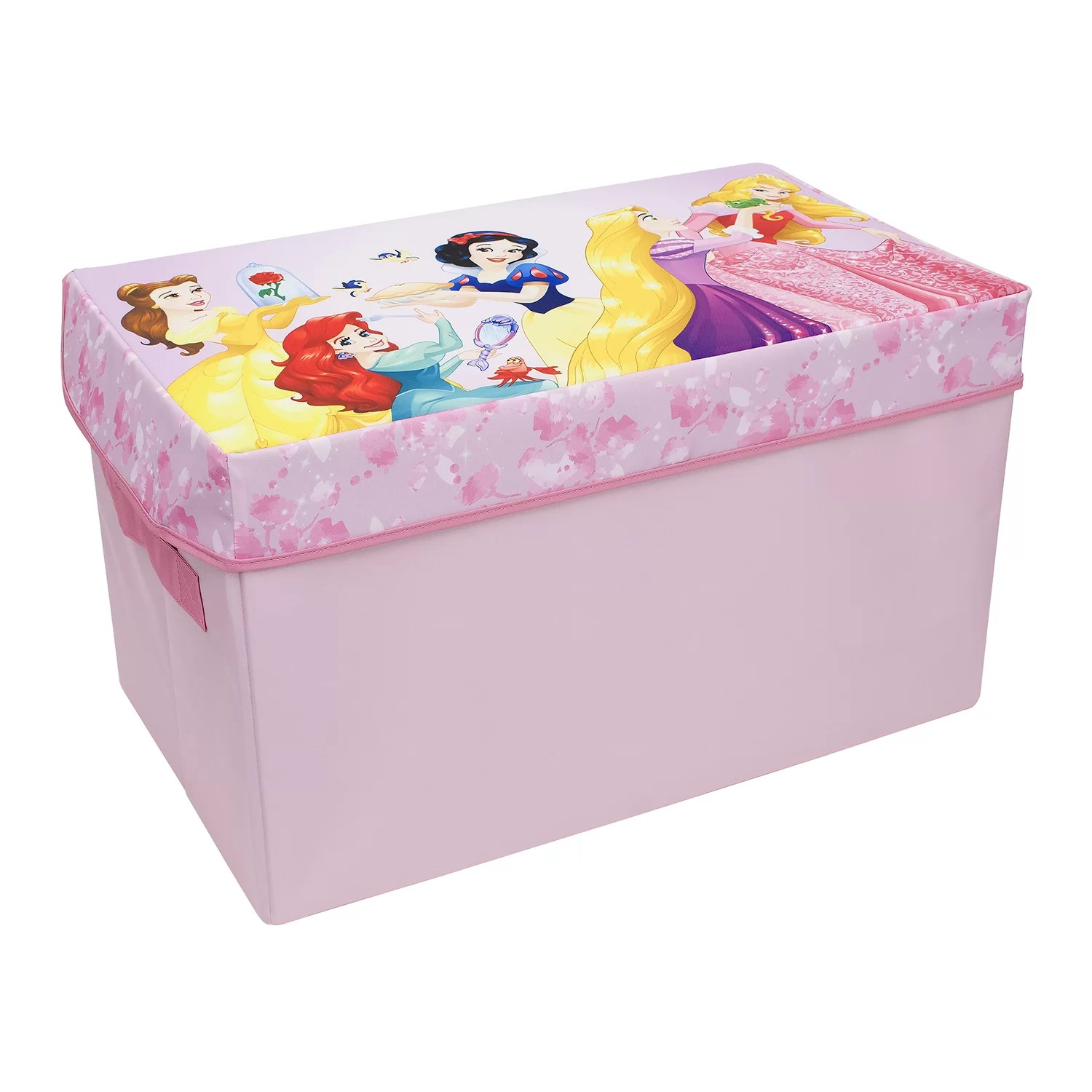 Toy Chests Disney Forever Princess Collapsible Kids Toy Storage Chest Foldable Toy Basket Organizer With Strong Handles Design