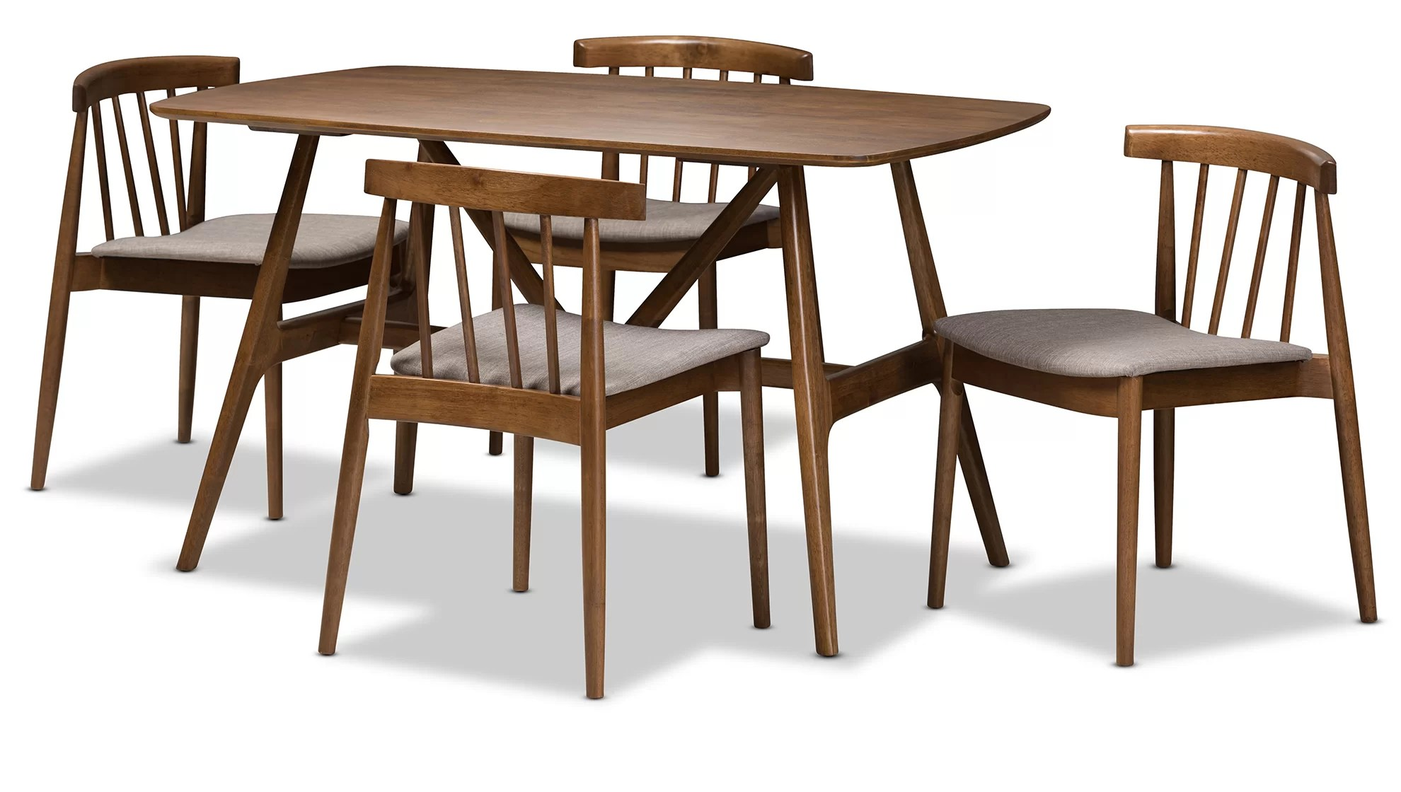 Modern Dining Set Watkin Mid Century Modern 5 Piece Breakfast Nook Dining Set
