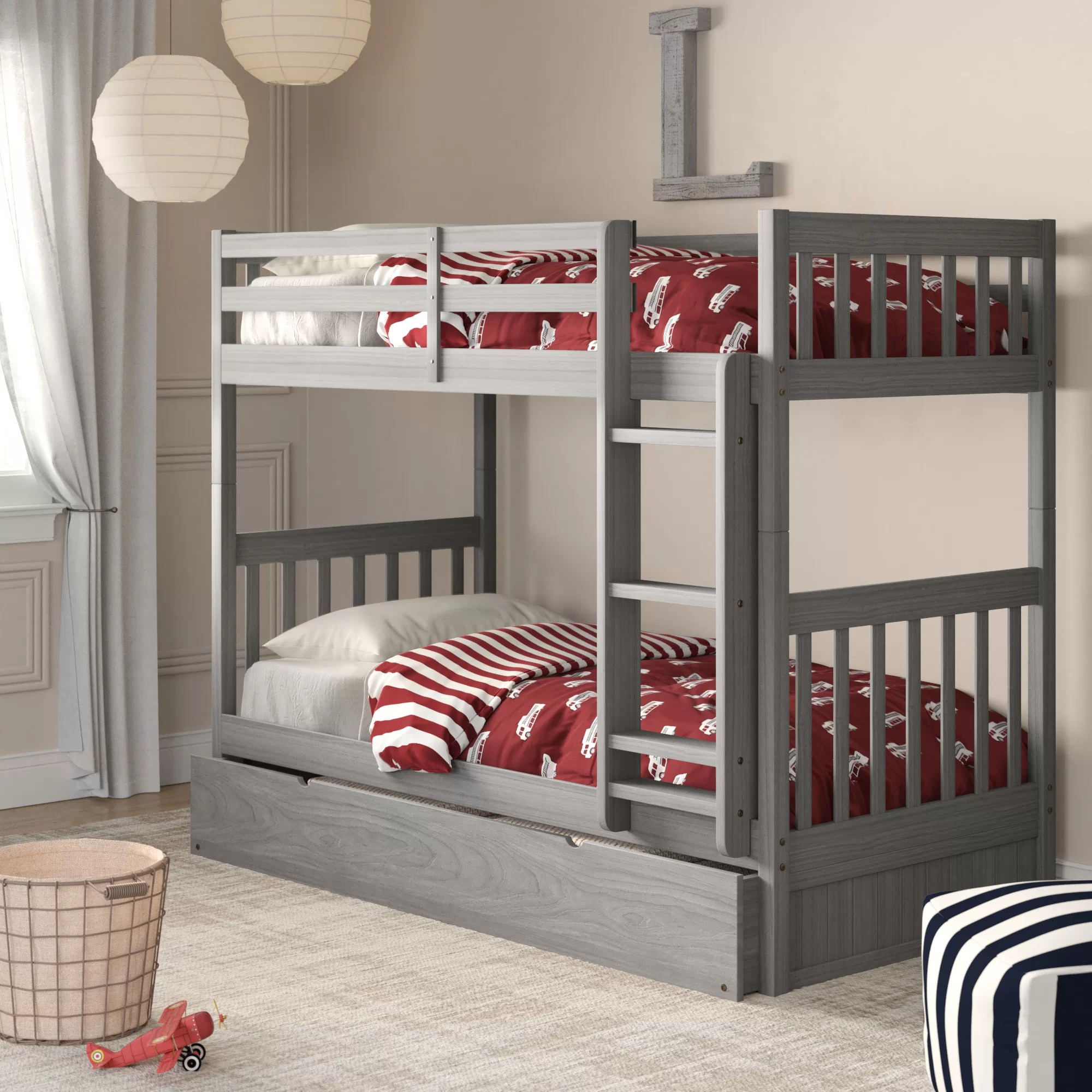 Snooze Bunk Beds Willett Twin Over Twin Bunk Bed With Trundle