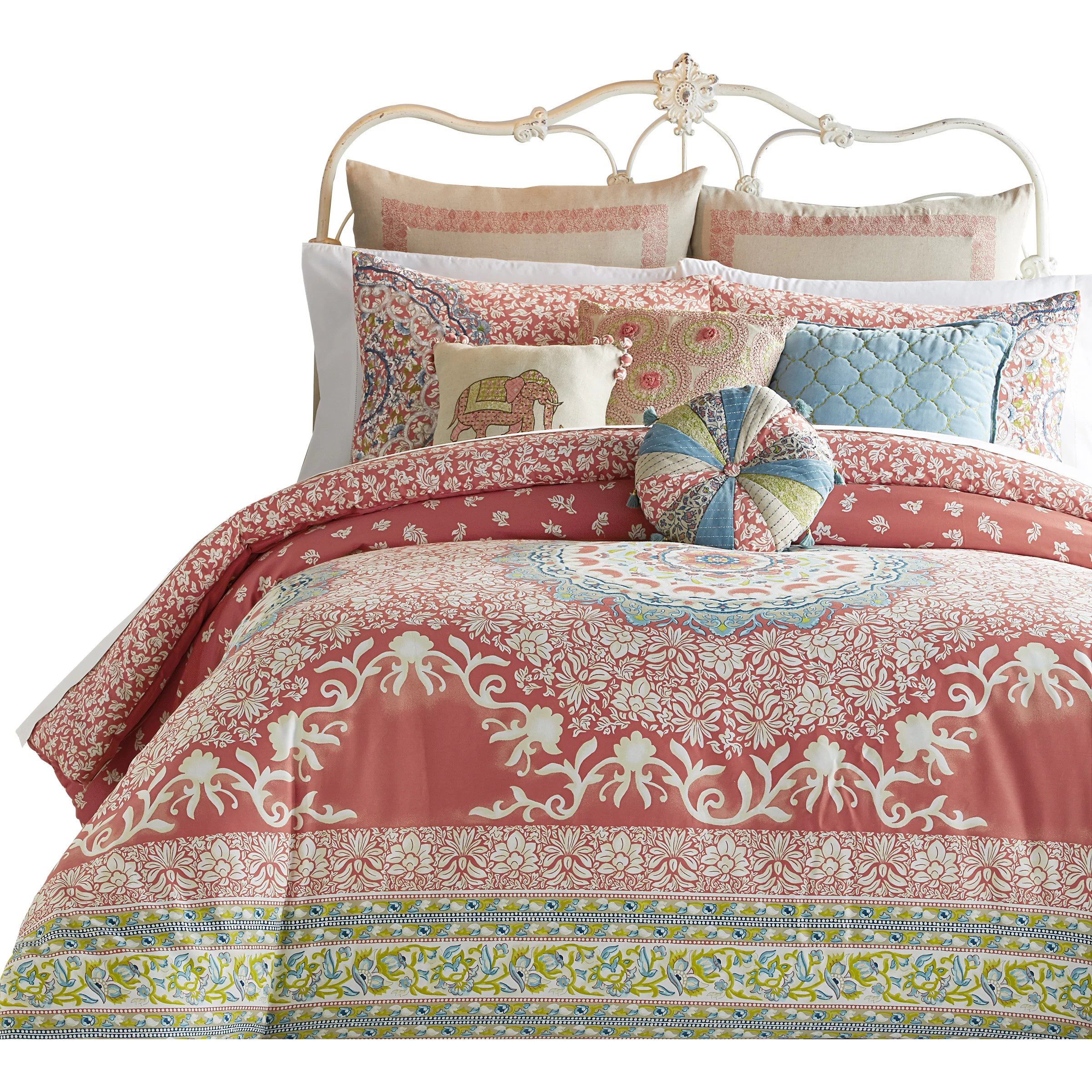 Duvet And Comforter Sets Amrita Medallion 400 Thread Count 100 Cotton Comforter Set