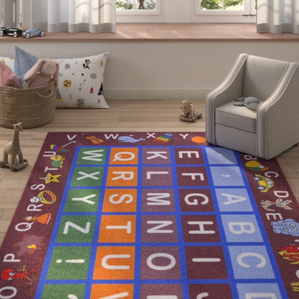 Children's Floor Rugs Kingsdown Children S Educational Area Rug