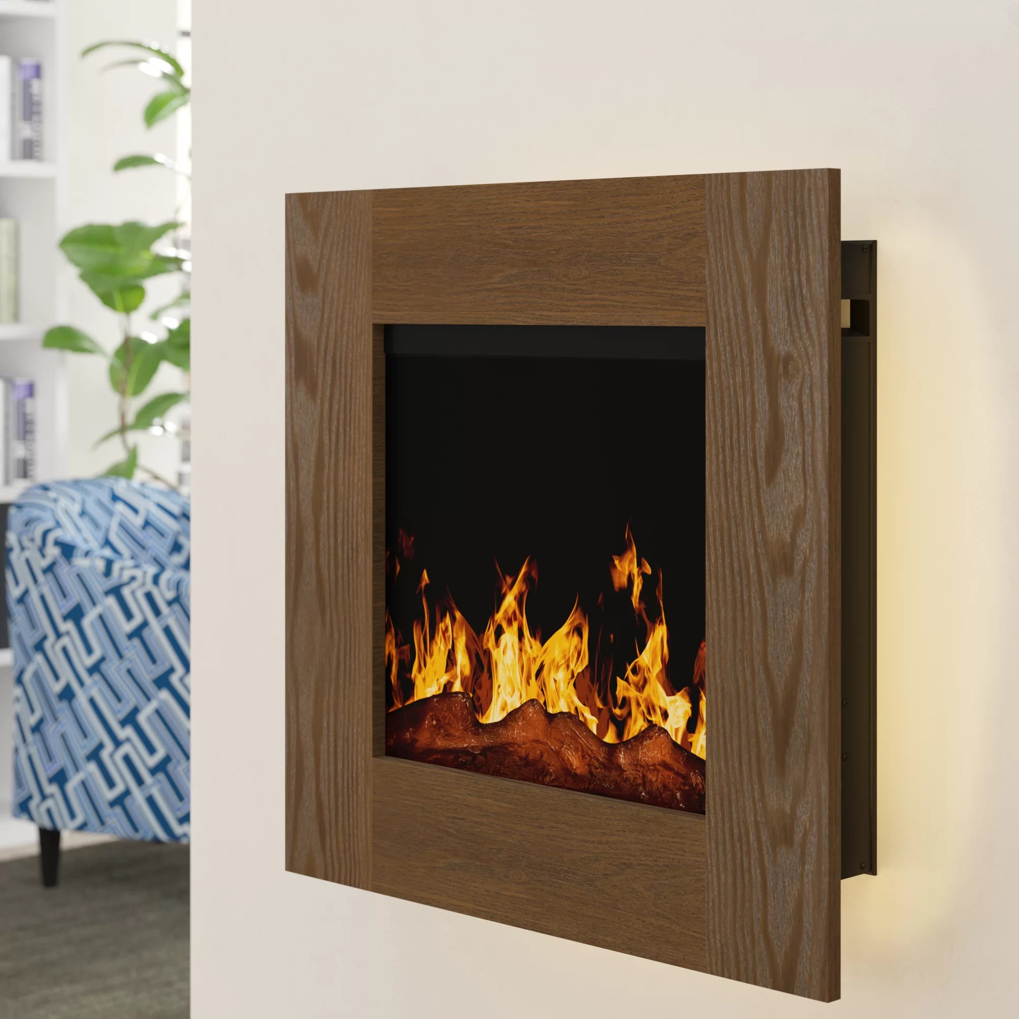 Wall Mount Fireplaces Paladino Backlit Wall Mounted Electric Fireplace