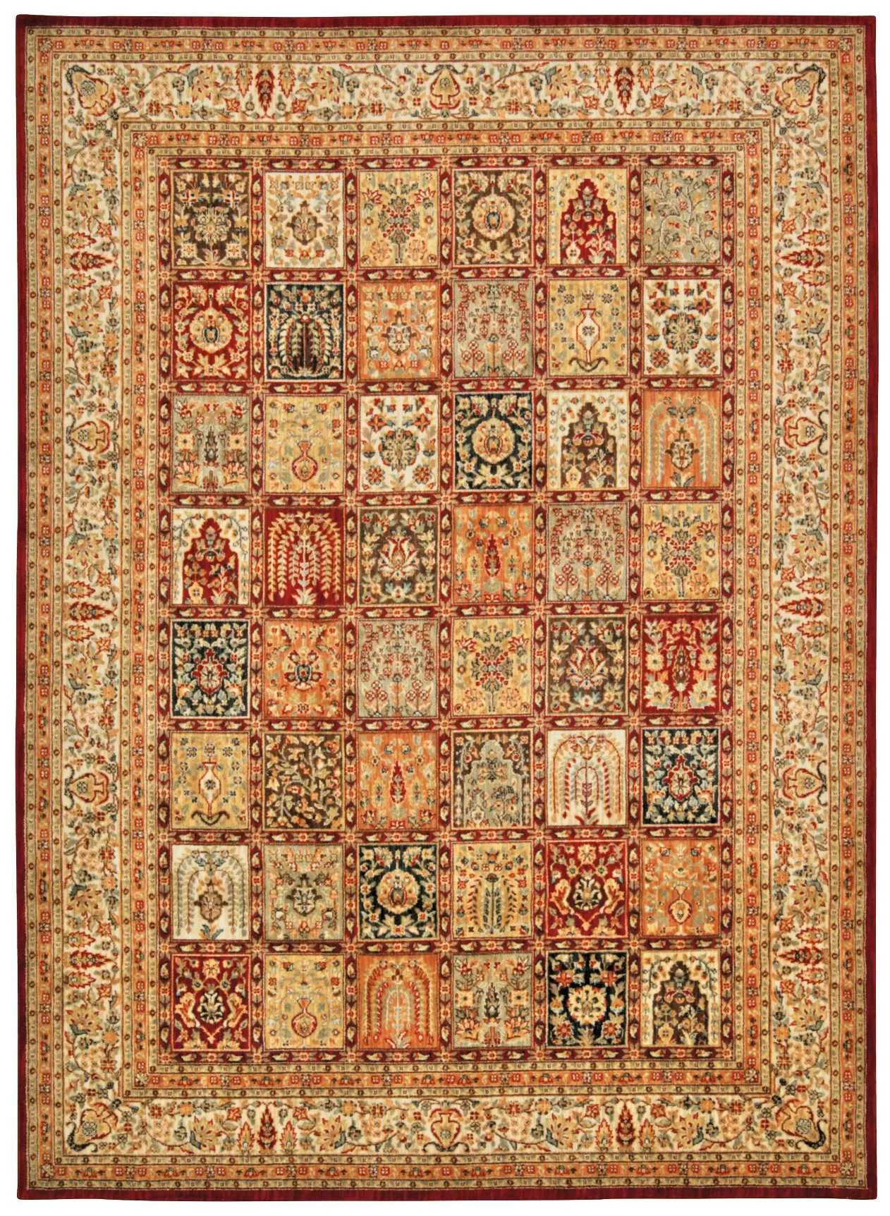 Asian Carpet Ancient Times Asian Dynasty Multicolor Area Rug