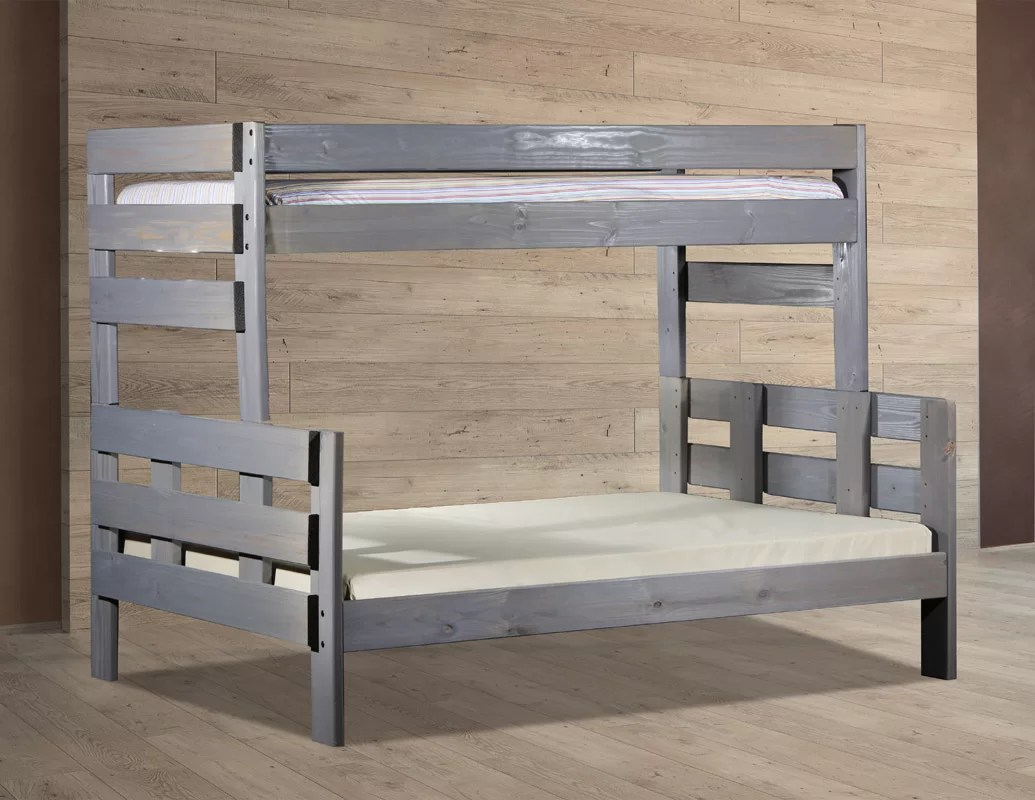 Stackable Twin Beds Bartlow Stackable Twin Over Full Bunk Bed