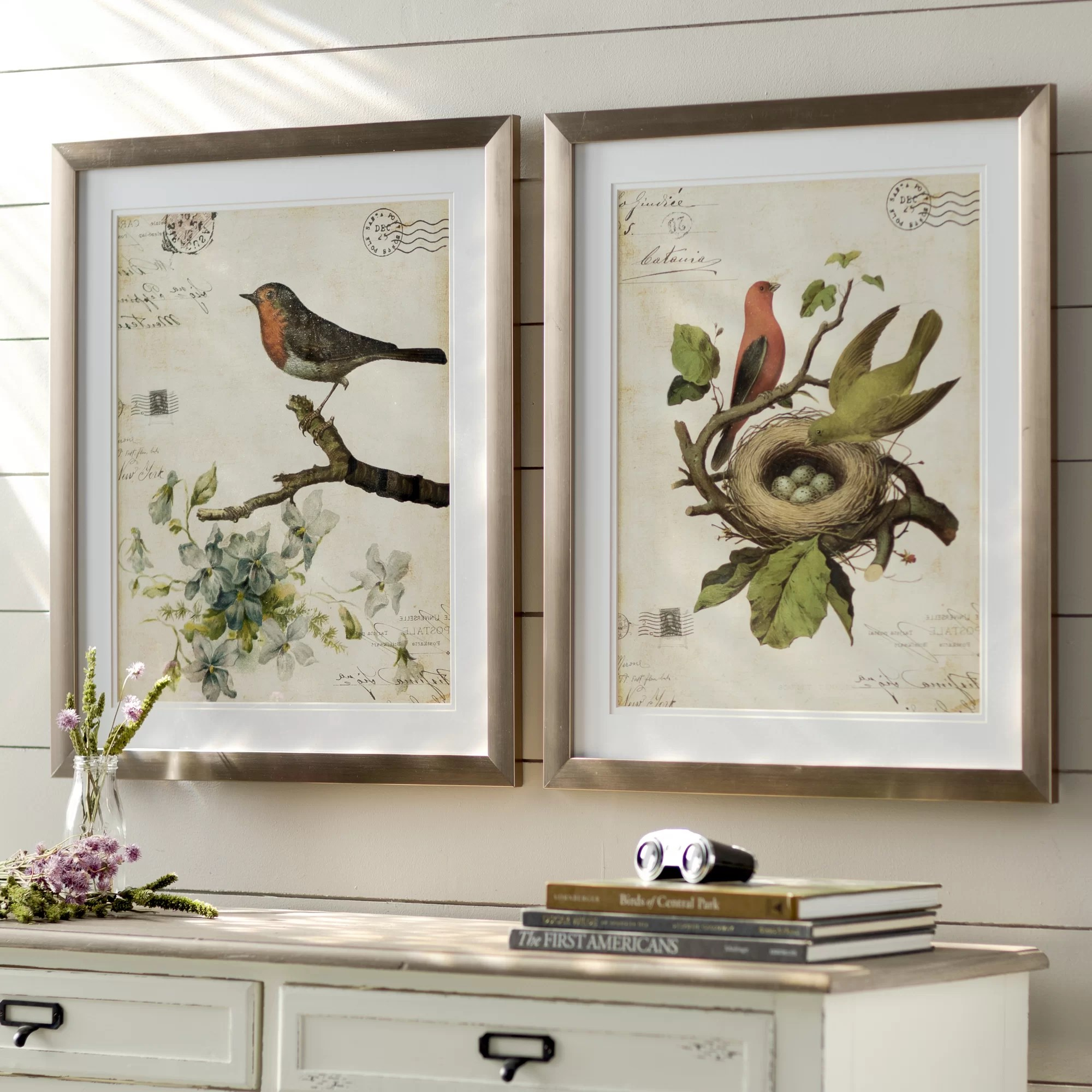 Olive Green Wall Decor Lark Manor Trepanier 2 Piece Framed Graphic Art Set