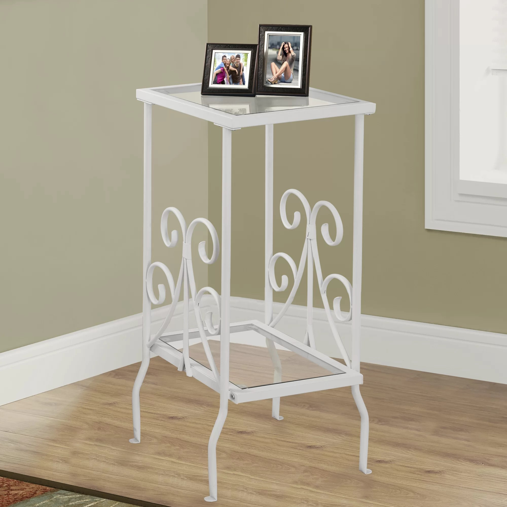 White Metal End Table Monarch Specialties Inc White Metal End Table And Reviews