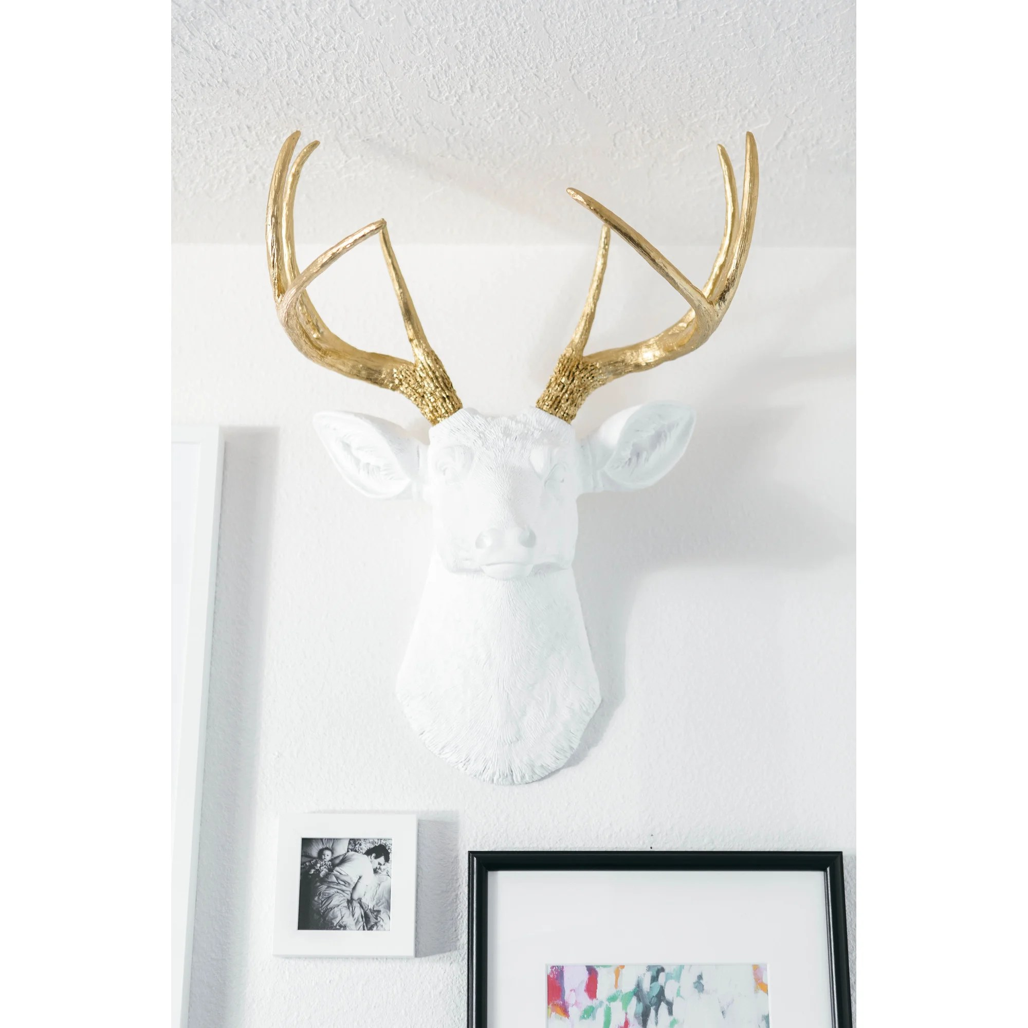 Fake Taxidermy Deer Head Deer Head Antlers Fake Taxidermy Wall Décor And Reviews