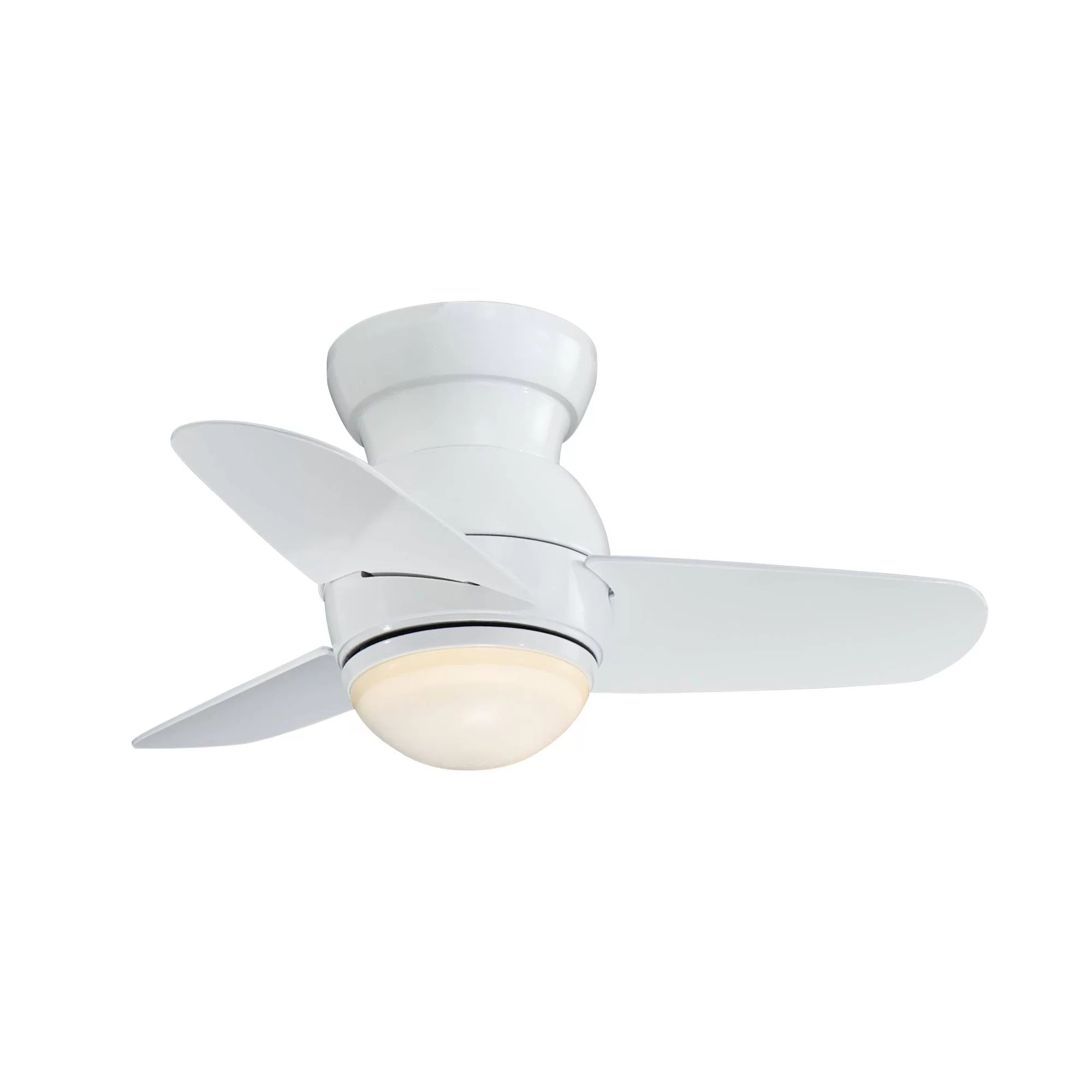 "Wayfair Orb Lighting Minka Aire 26"" Spacesaver Flush Mount 3-blade Ceiling Fan"