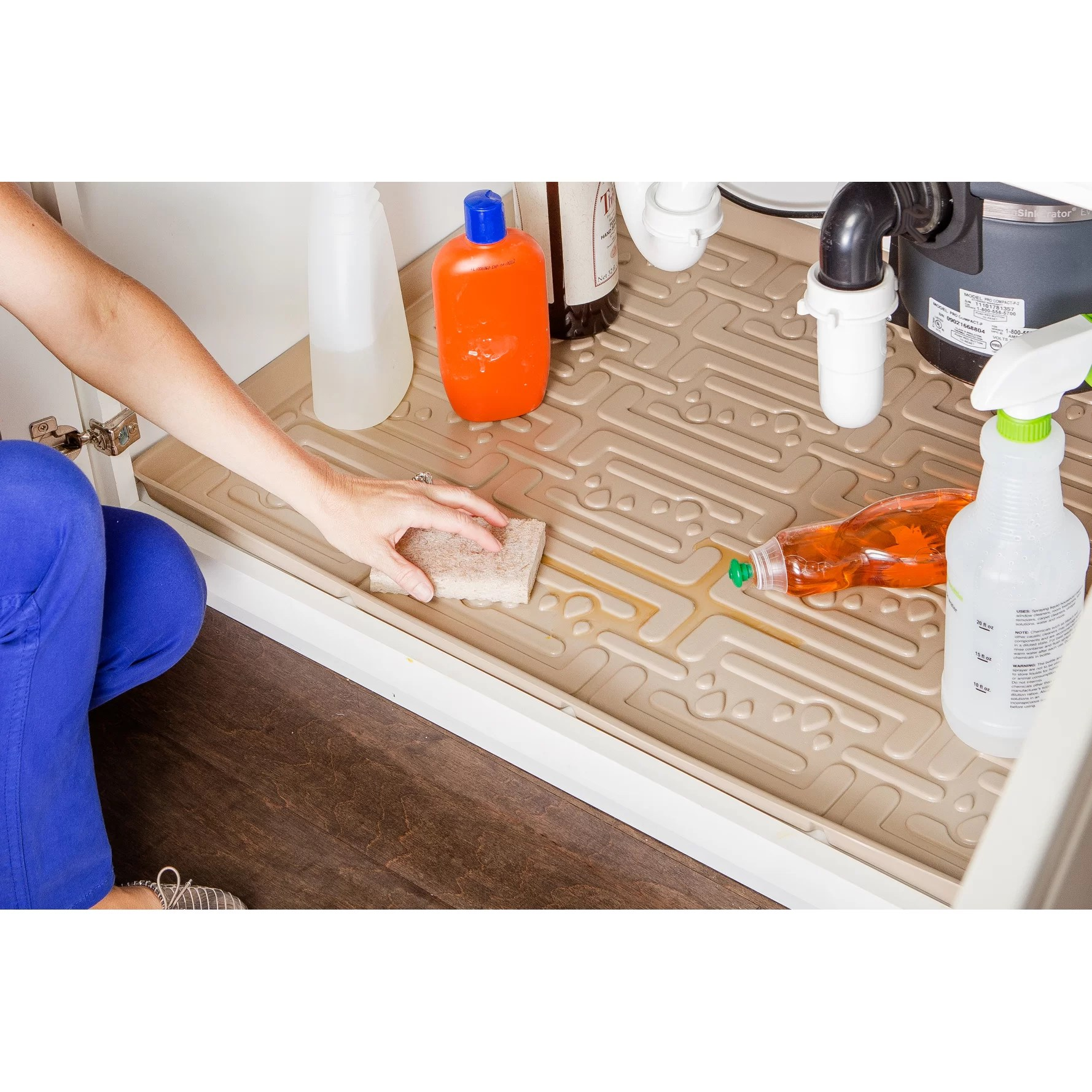 Under Sink Kitchen Cabinet Mat Drip Tray Xtreme Mats Under Sink Bathroom Cabinet Drip Tray