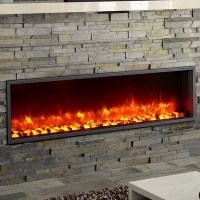 """Dynasty 55"""" Built-in LED Wall Mount Electric Fireplace ..."""