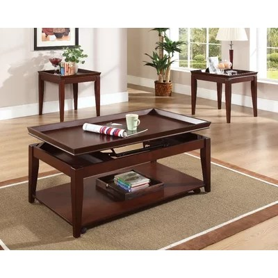 Steve Silver Furniture Clemens 3 Piece Coffee Table Set \ Reviews - 3 piece living room table set