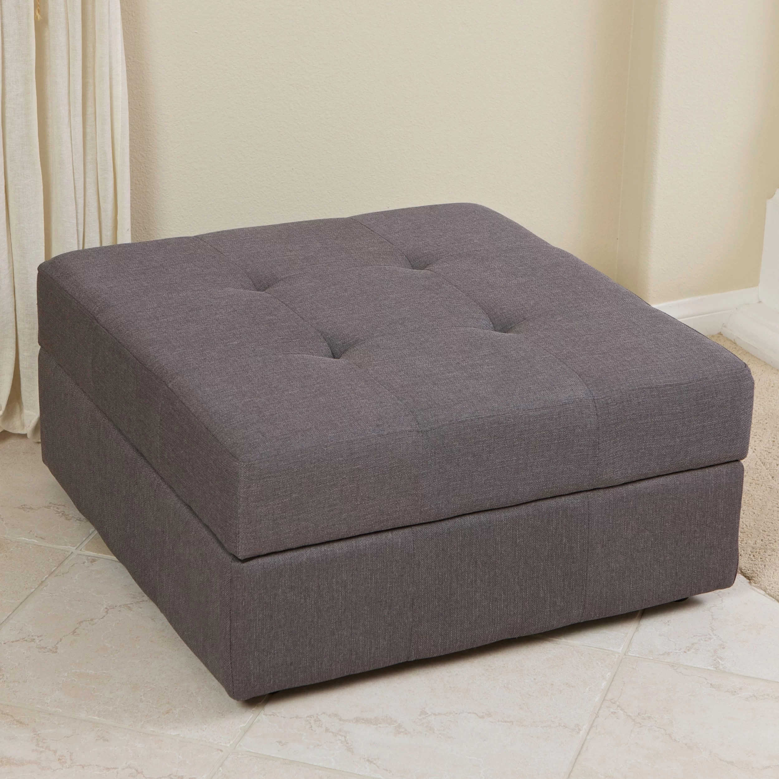 Noble House Furniture Noblehouse Calart Storage Ottoman And Reviews Wayfair Co Uk
