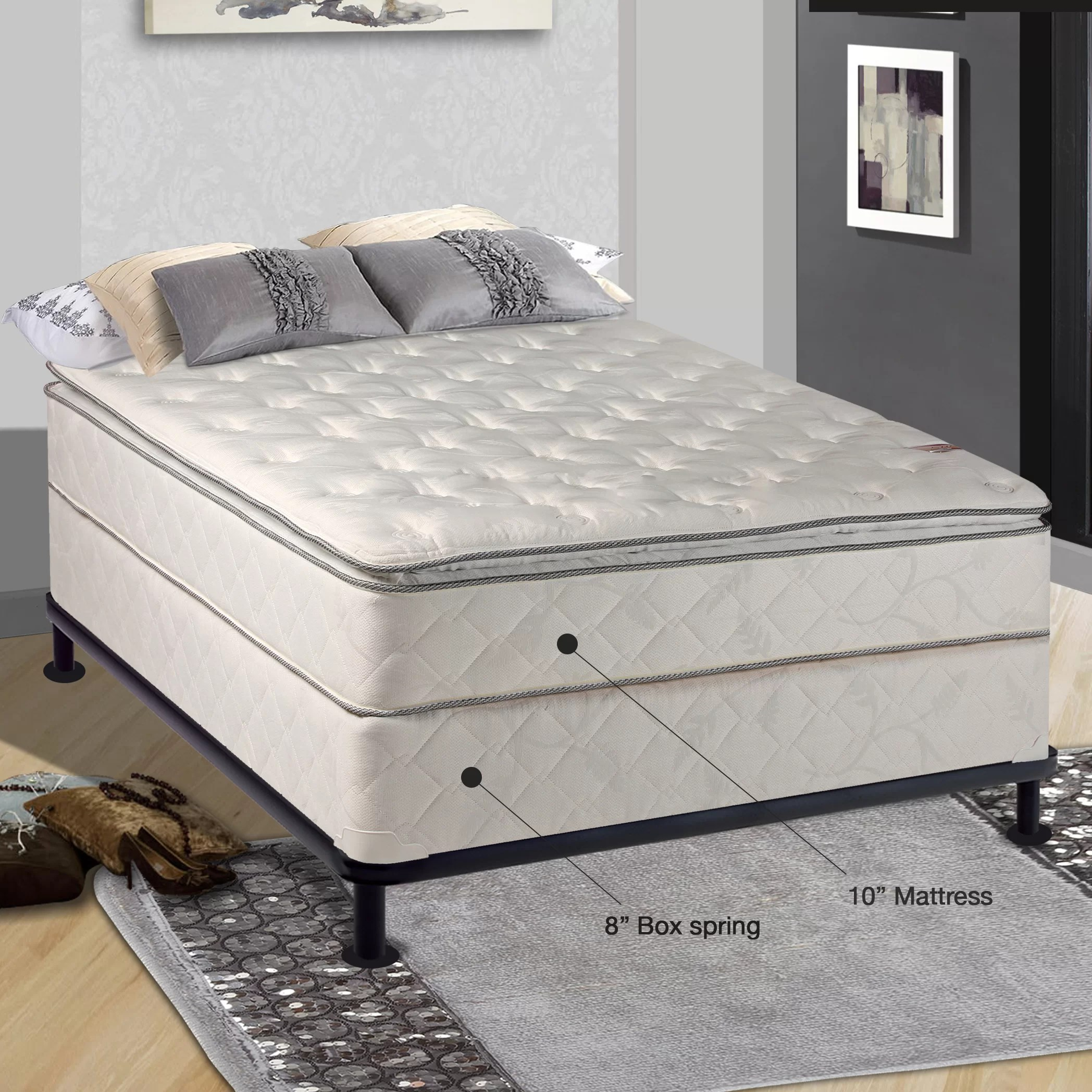 Boxspring Bed Spinal Solution Orthopedic 10 Quot Firm Mattress With Box