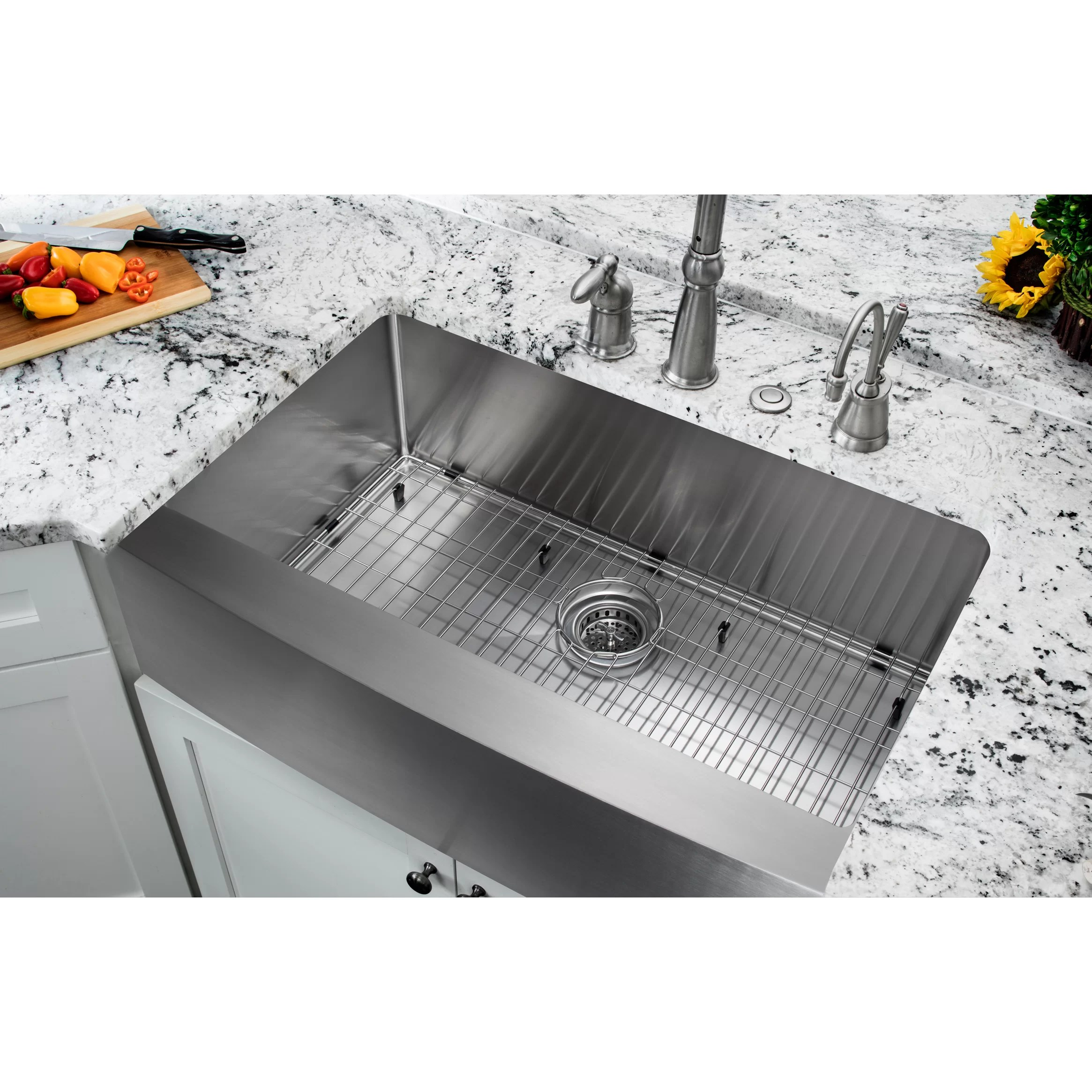 All Kitchen Sinks l c O~Farmhouse+ 5BS 5D+Apron kitchen sink 35 20 75 Single Bowl Farmhouse Apron Kitchen Sink