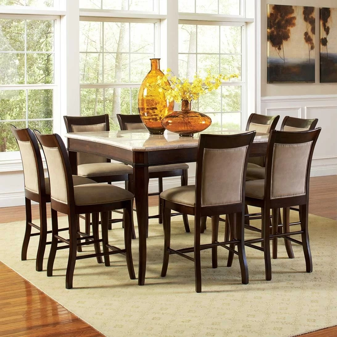 square kitchen dining tables c a~ the kitchen table Swenson Counter Height Dining Table
