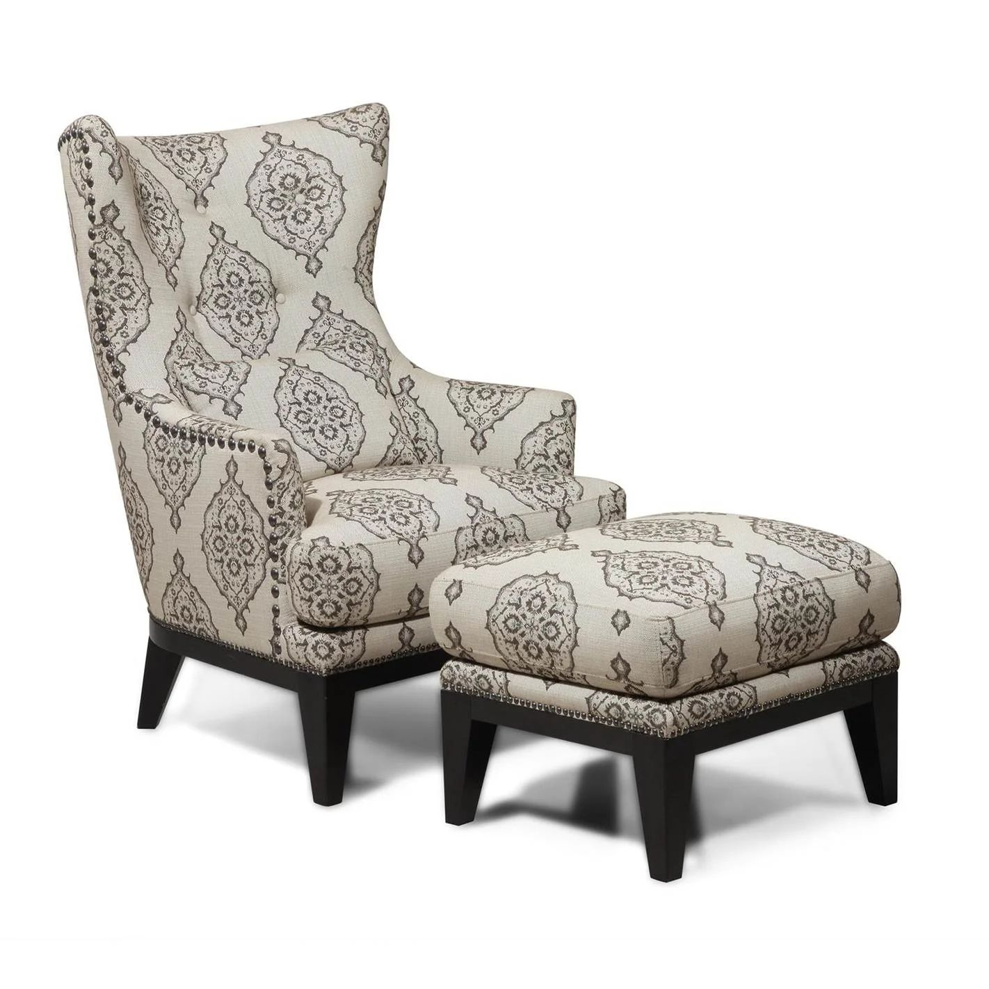 Darby home co reg baltic wingback chair amp ottoman