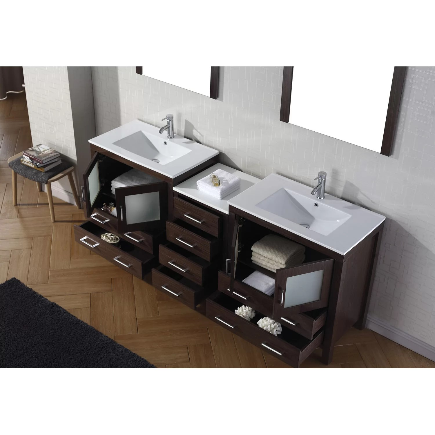 3 Piece Vanity Mirror Shiloh 3 Piece 82 Quot Double Vanity And Mirror Set And Reviews