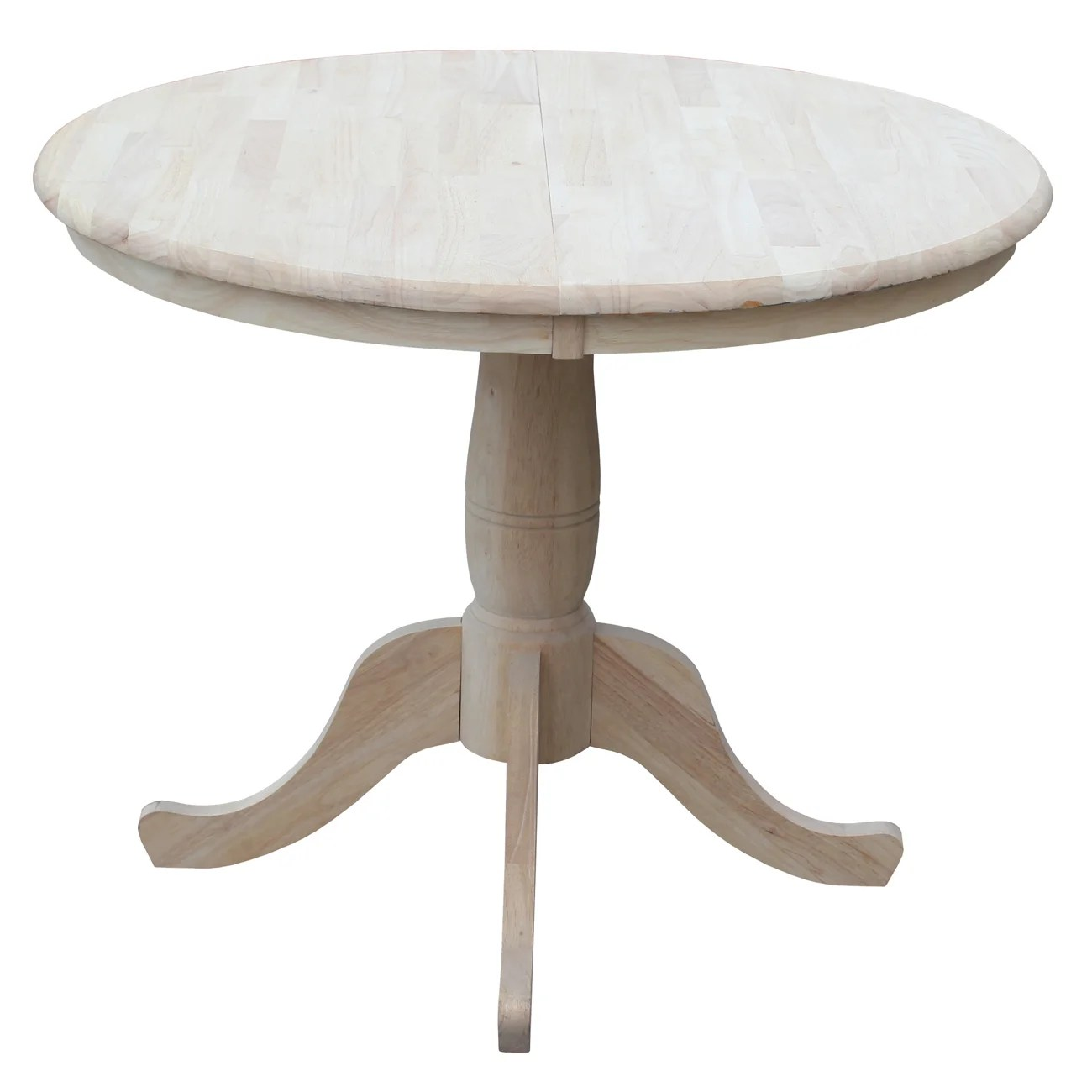 round kitchen dining tables c a~ round kitchen tables Overbay Round Pedestal 30 Extendable Dining Table
