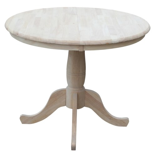round kitchen dining tables c a~ kitchen tables Overbay Round Pedestal 30 Extendable Dining Table
