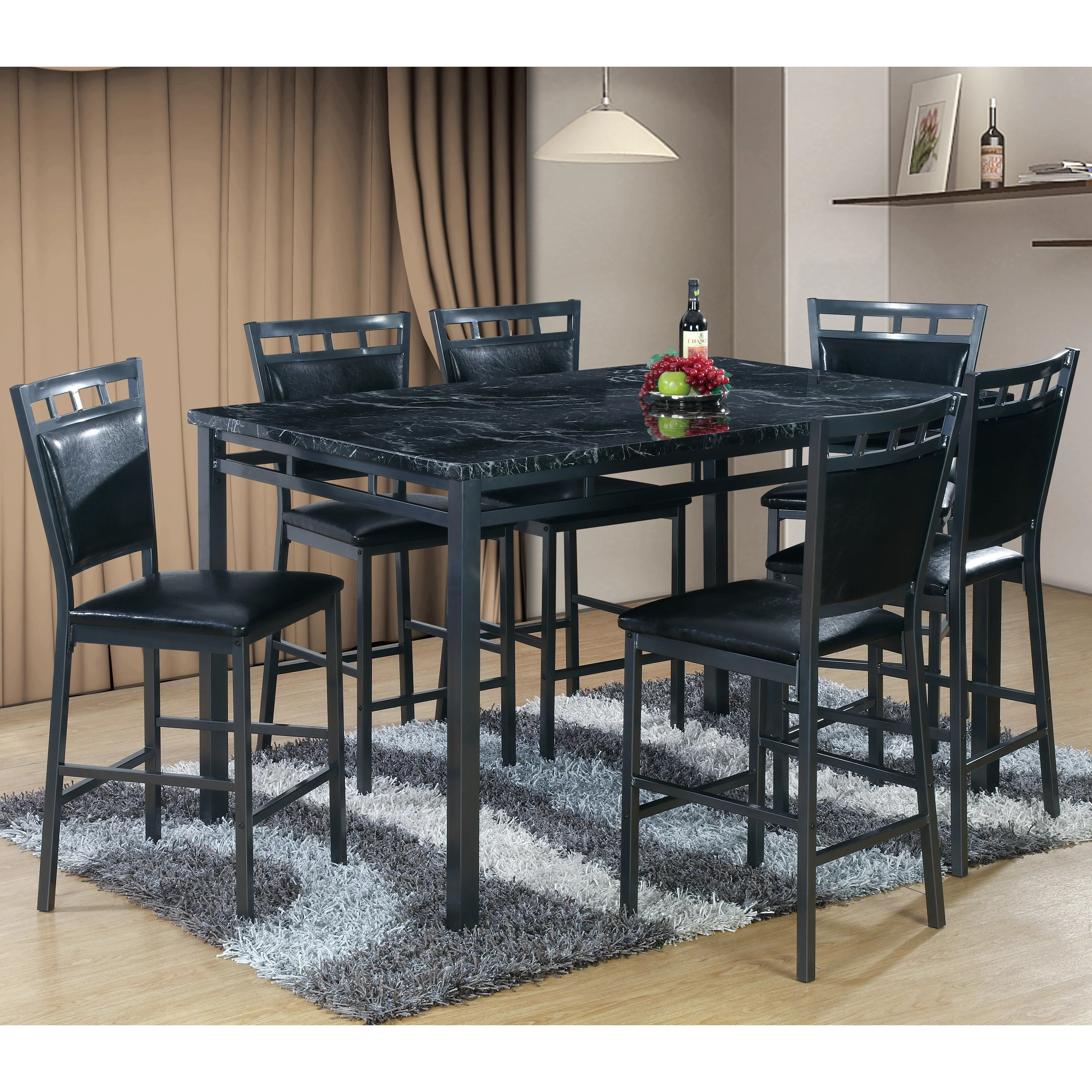 counter height dining sets c counter height kitchen tables 7 Piece Counter Height Dining Table Set
