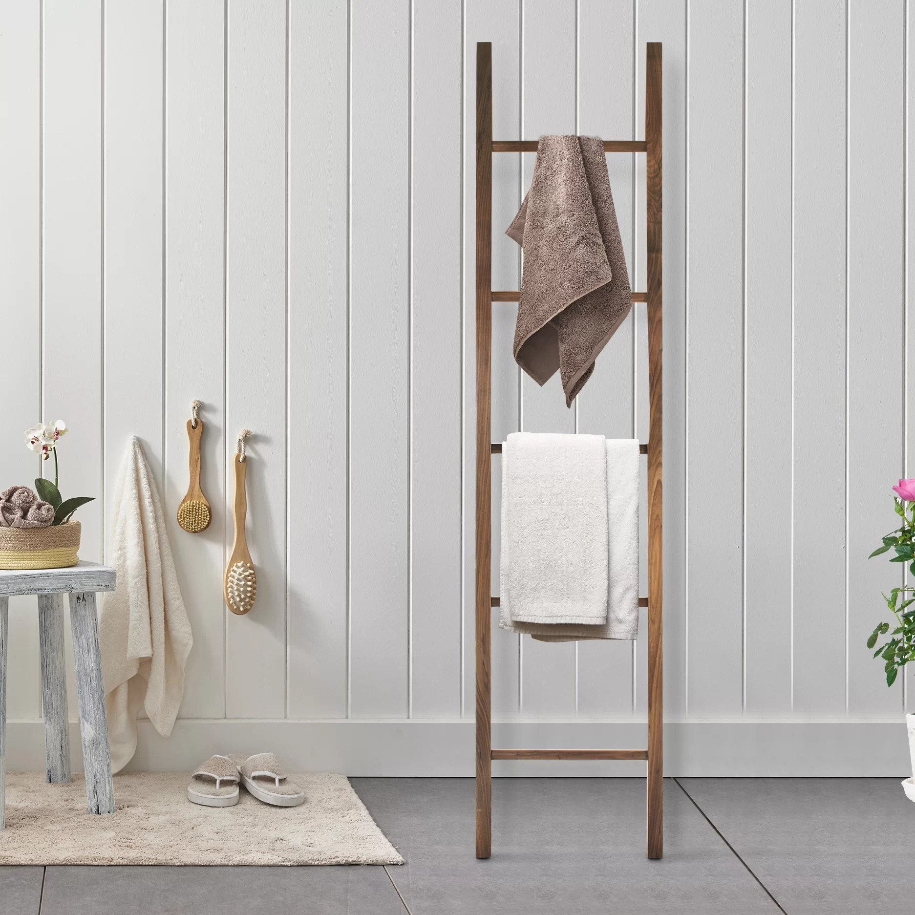 Kitchen Decor Ladder American Trail Decorative Ladder Free Standing Towel Rack