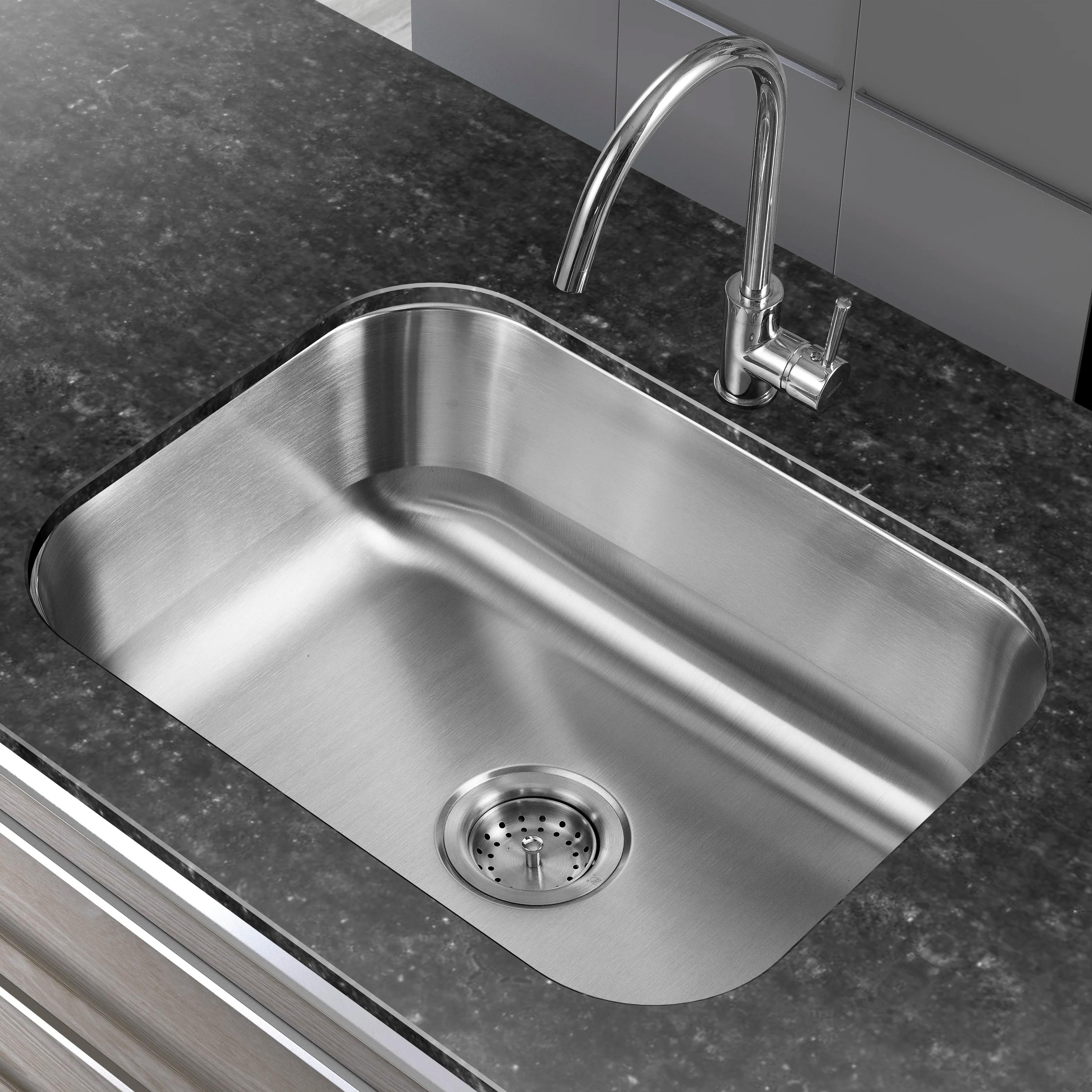 keyword hahn kitchen sinks 23 38 17 75 Single Basin Undermount Kitchen Sink